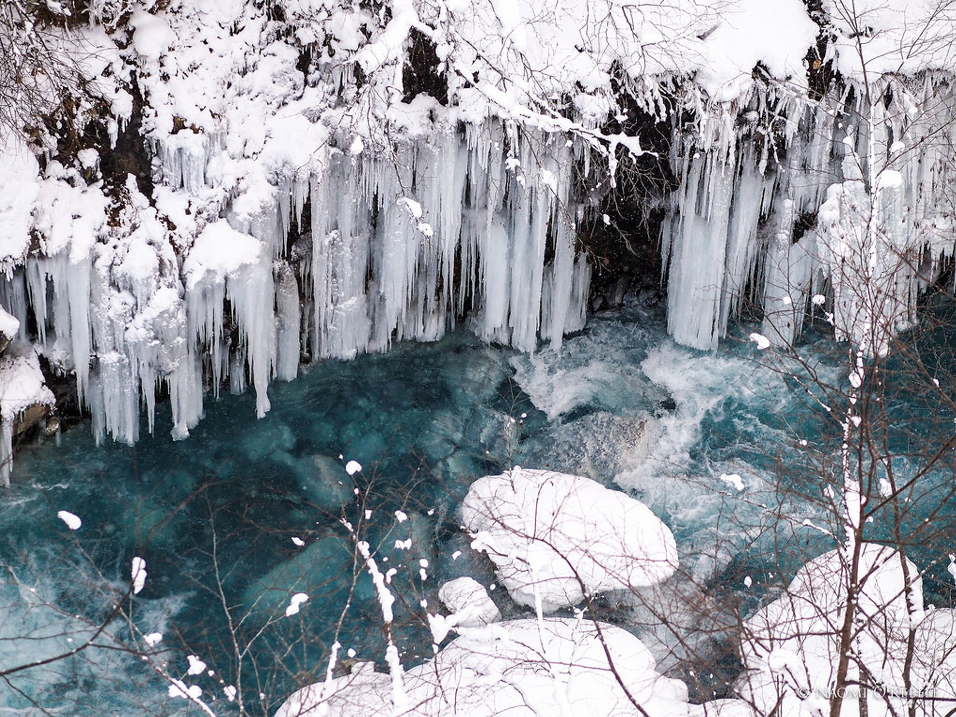 Blue River at Shirogane Onsen (Hot Spring), Biei, Hokkaido 2019