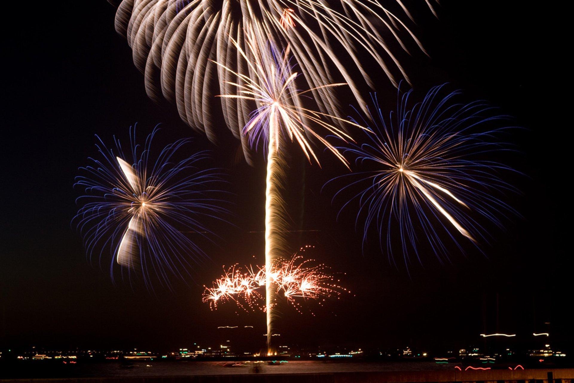Fireworks off Pier 39 2020