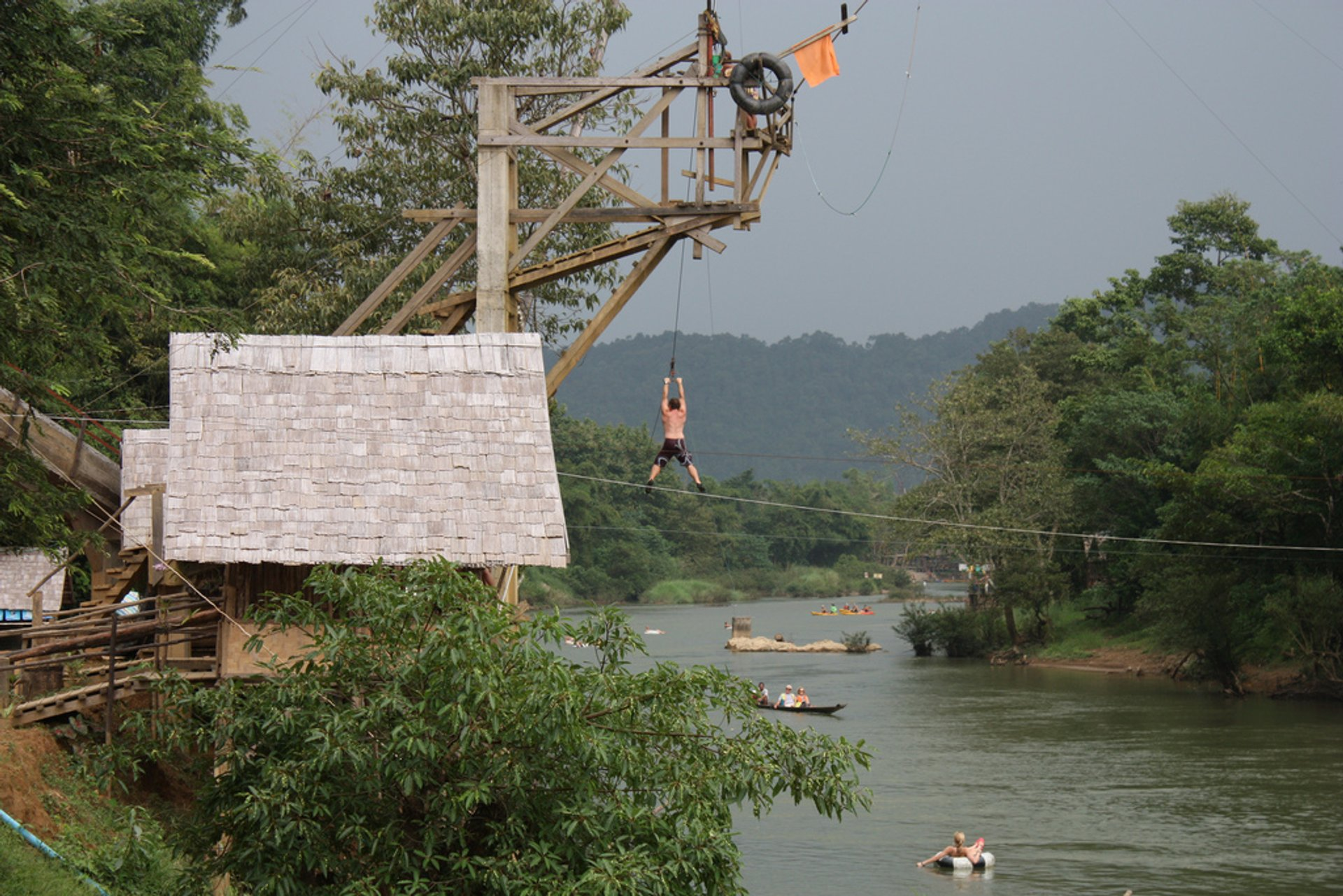 Best time for Tubing in Laos