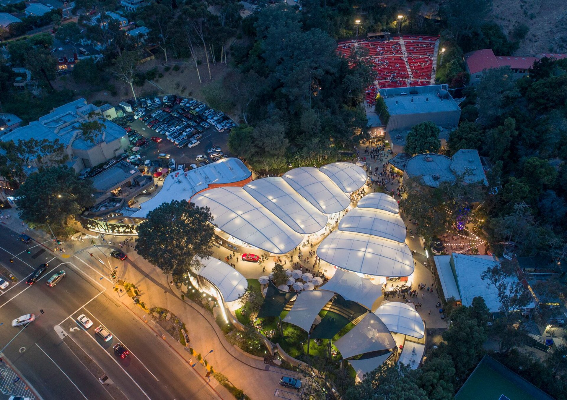 Aerial view of the festival venue