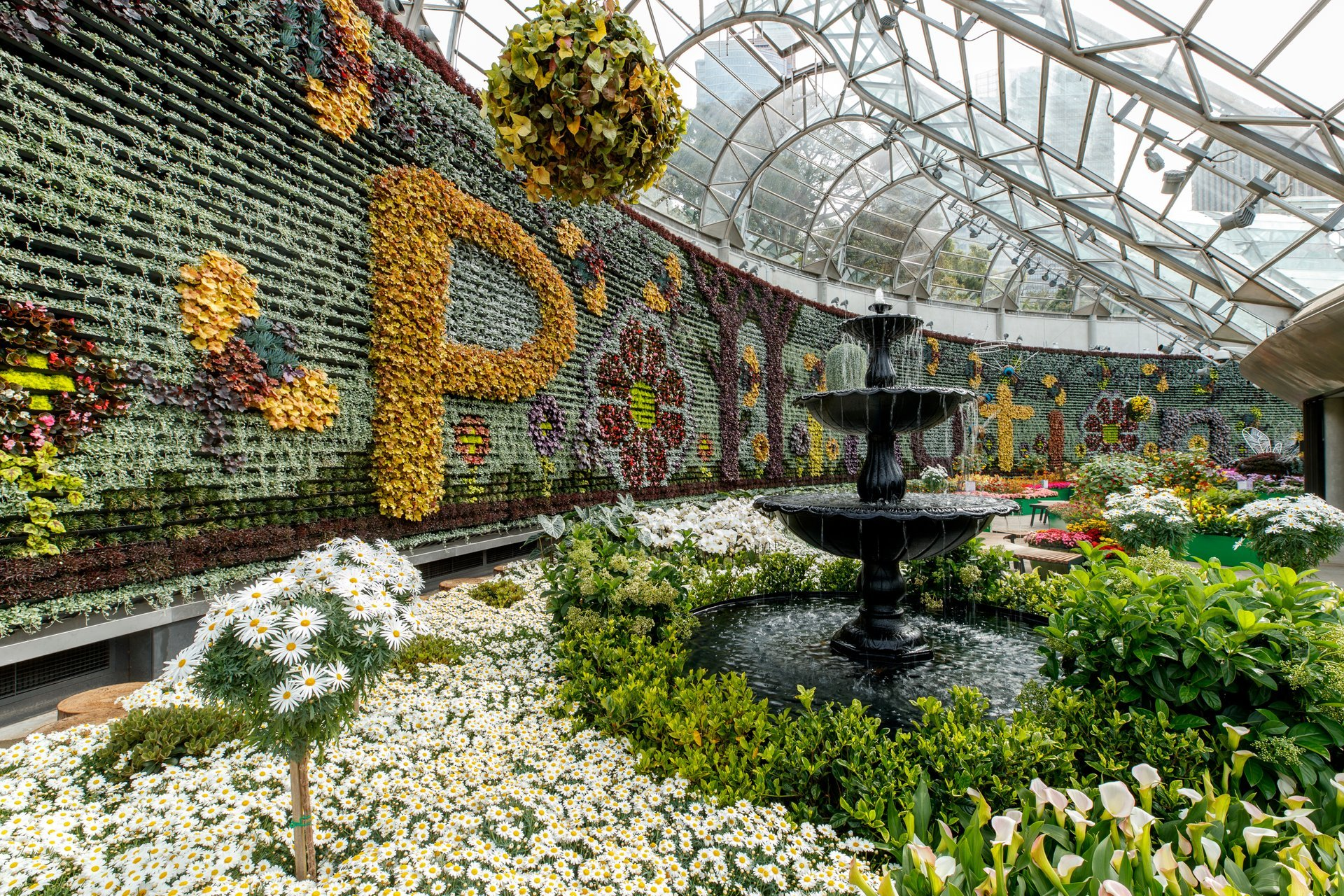 Pollination floral display at The Calyx 2020