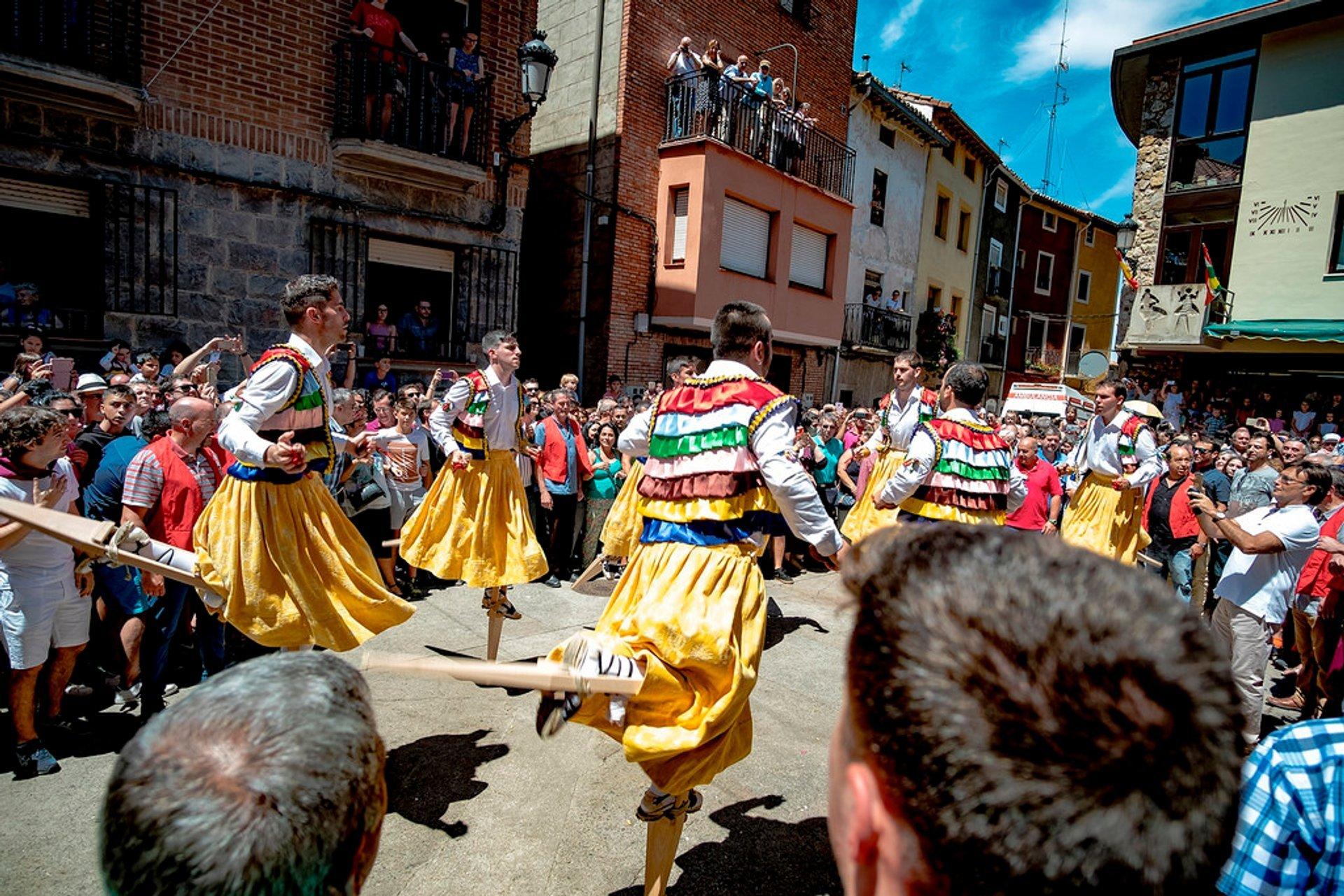 Anguiano Stilt Dance in Spain 2019 - Best Time