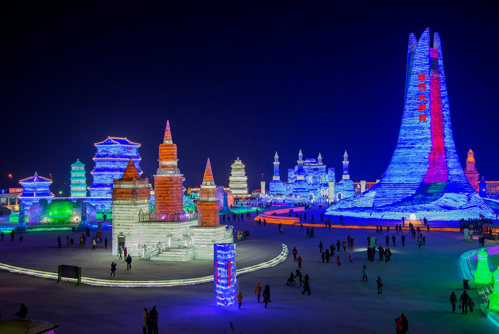 Best time for Harbin International Ice and Snow Sculpture Festival
