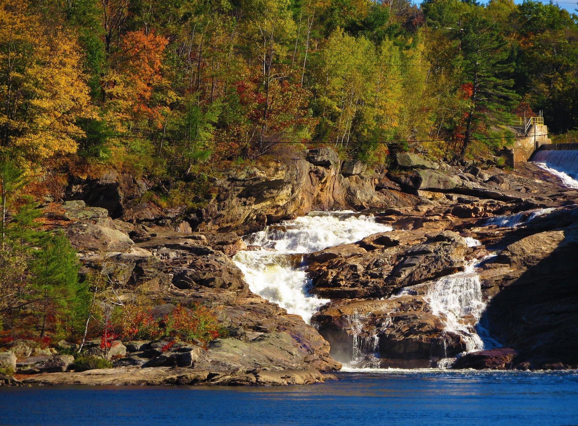 Rumford Falls in Autumn 2020