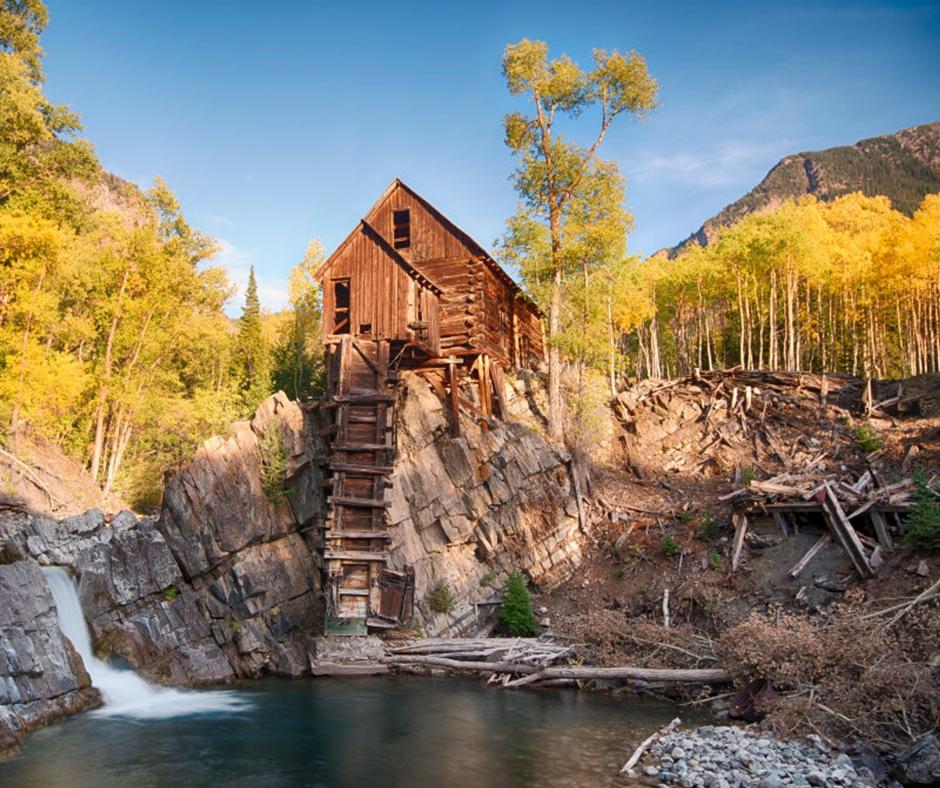 Crystal Mill in White River National Forest 2020