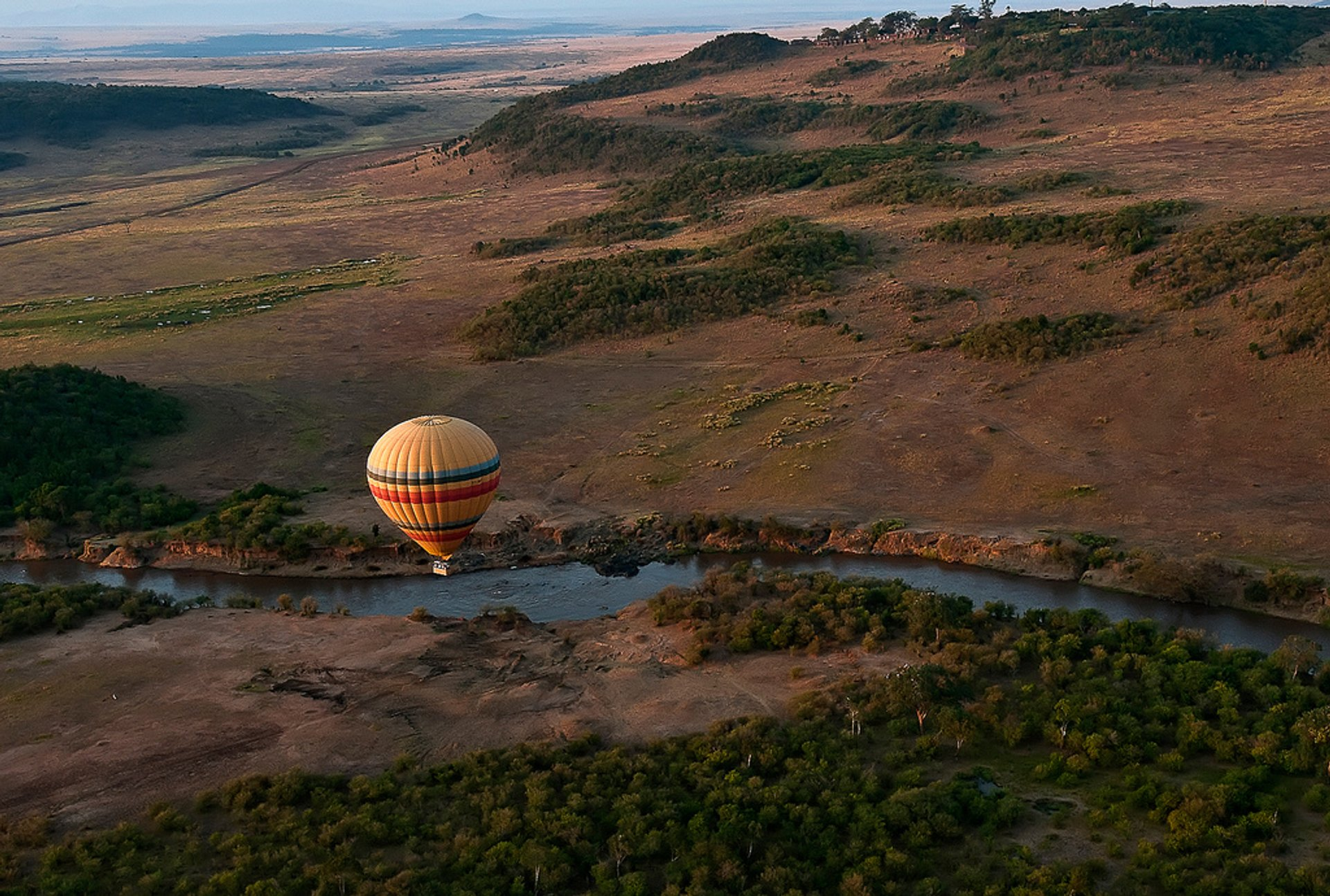 Early morning ballooning over the Masai Mara, Kenya 2020