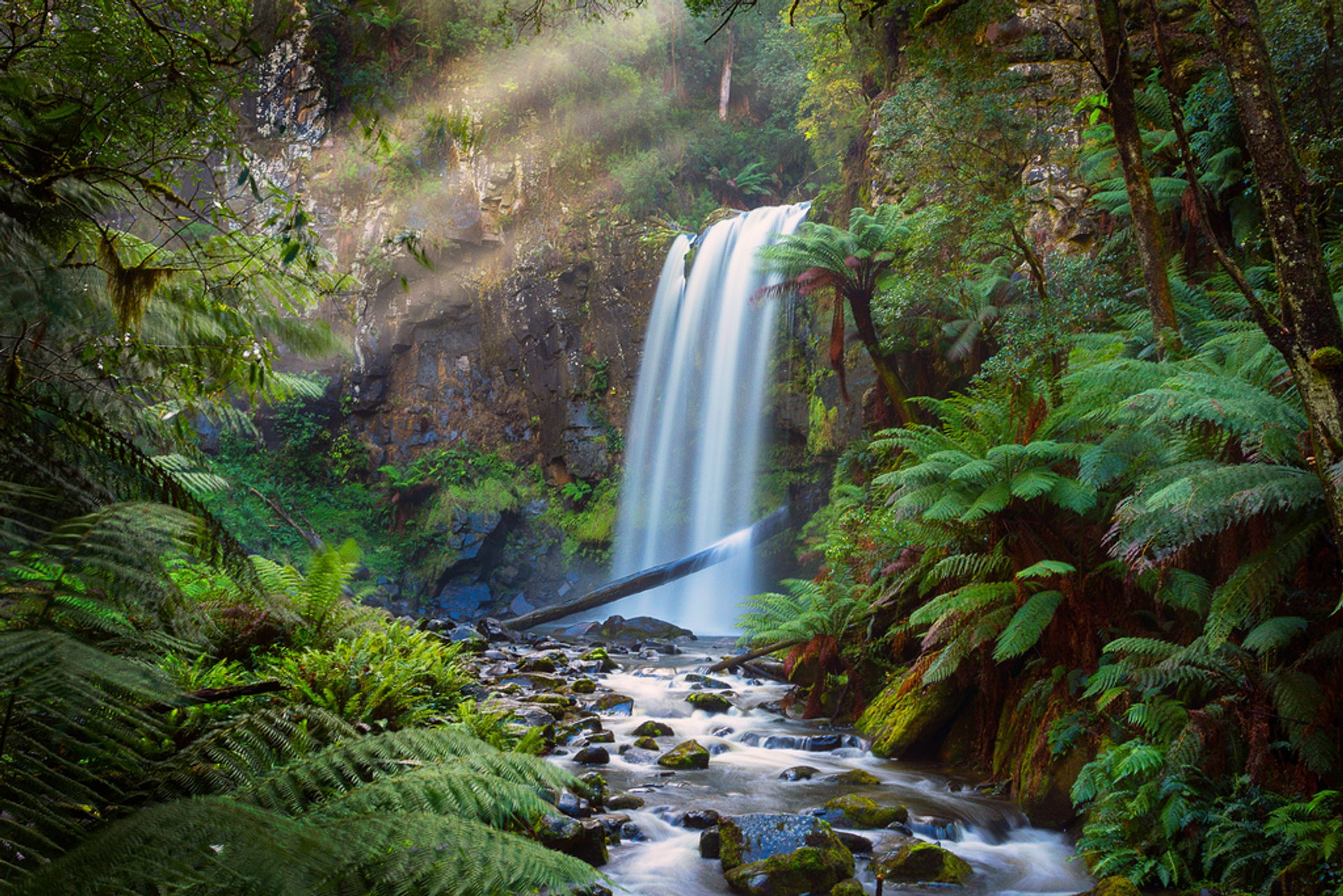 Sunrays above Hopetoun Falls 2020