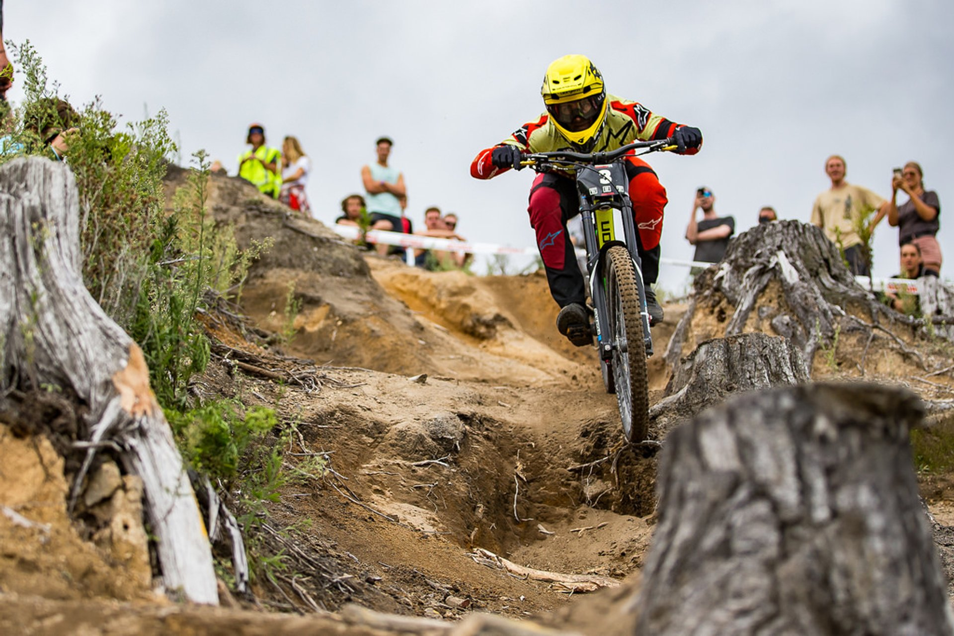 Action from the Redwoods Downhill at Crankworx Rotorua 2020