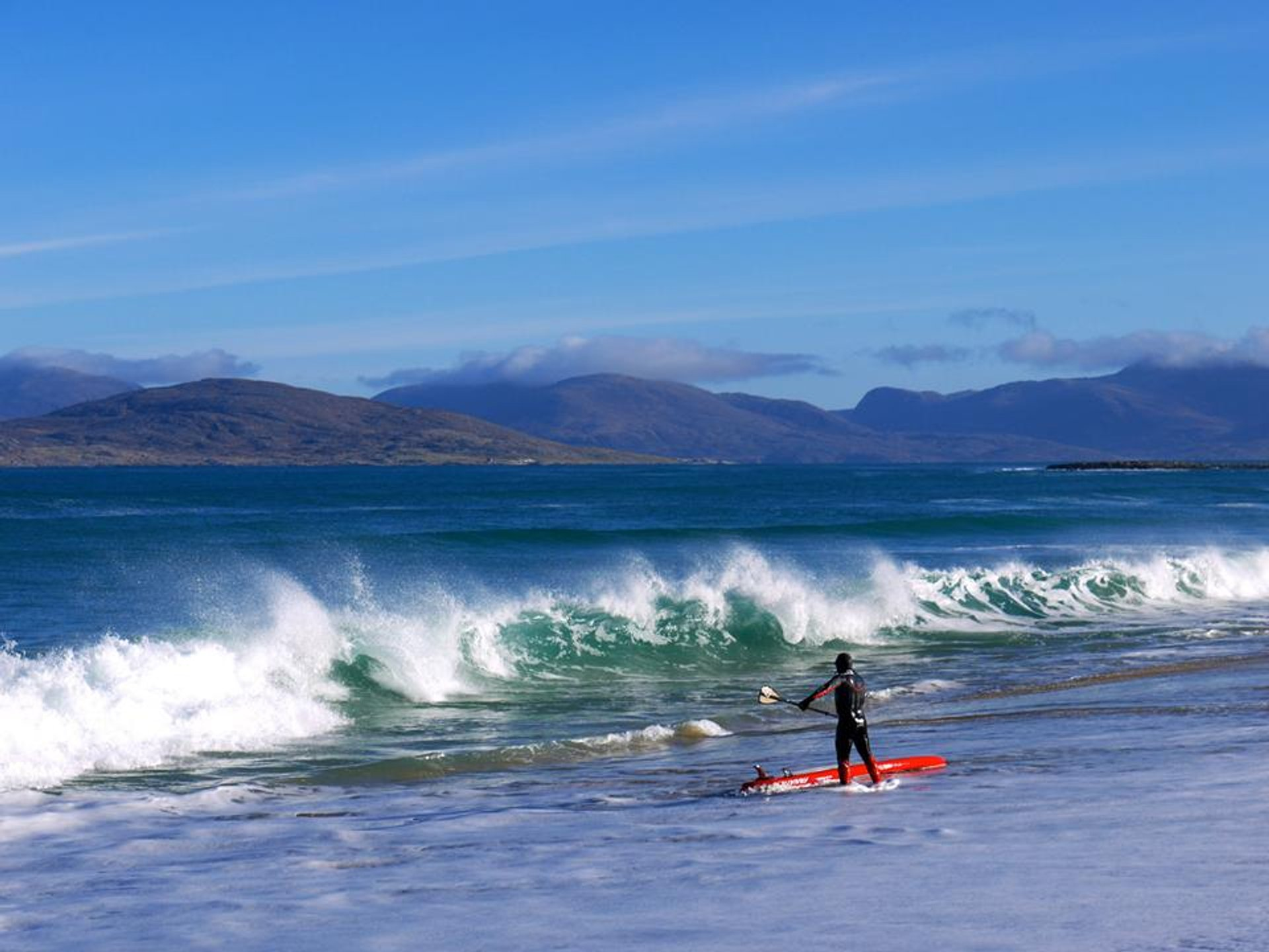 SUP Surfing at Scarista Beach, Isle of Harris, Outer Hebrides  2020