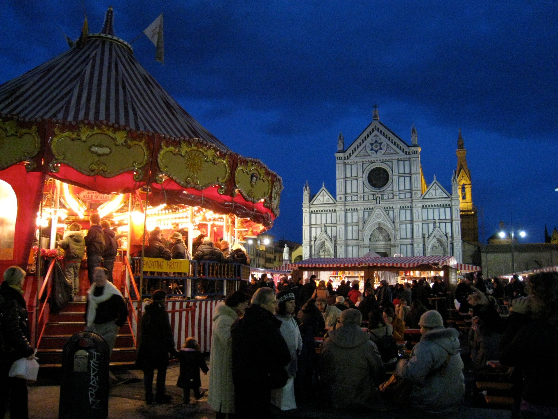 German Christmas Market on Piazza Santa Croce 2020