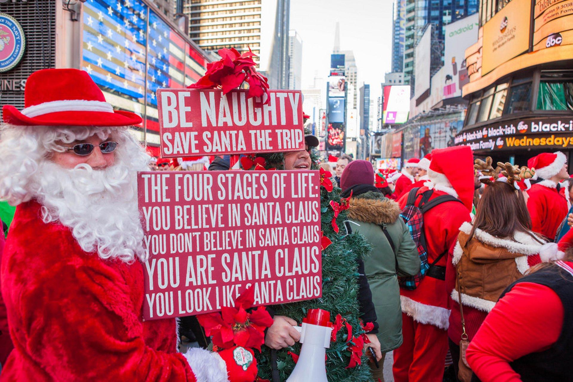 Best time for SantaCon in New York 2020
