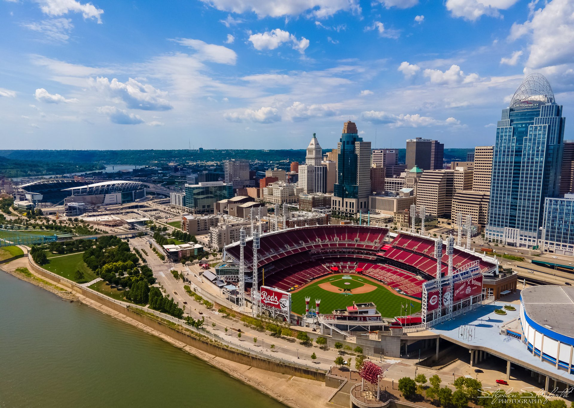 Great American Ball Park aerial view 2020
