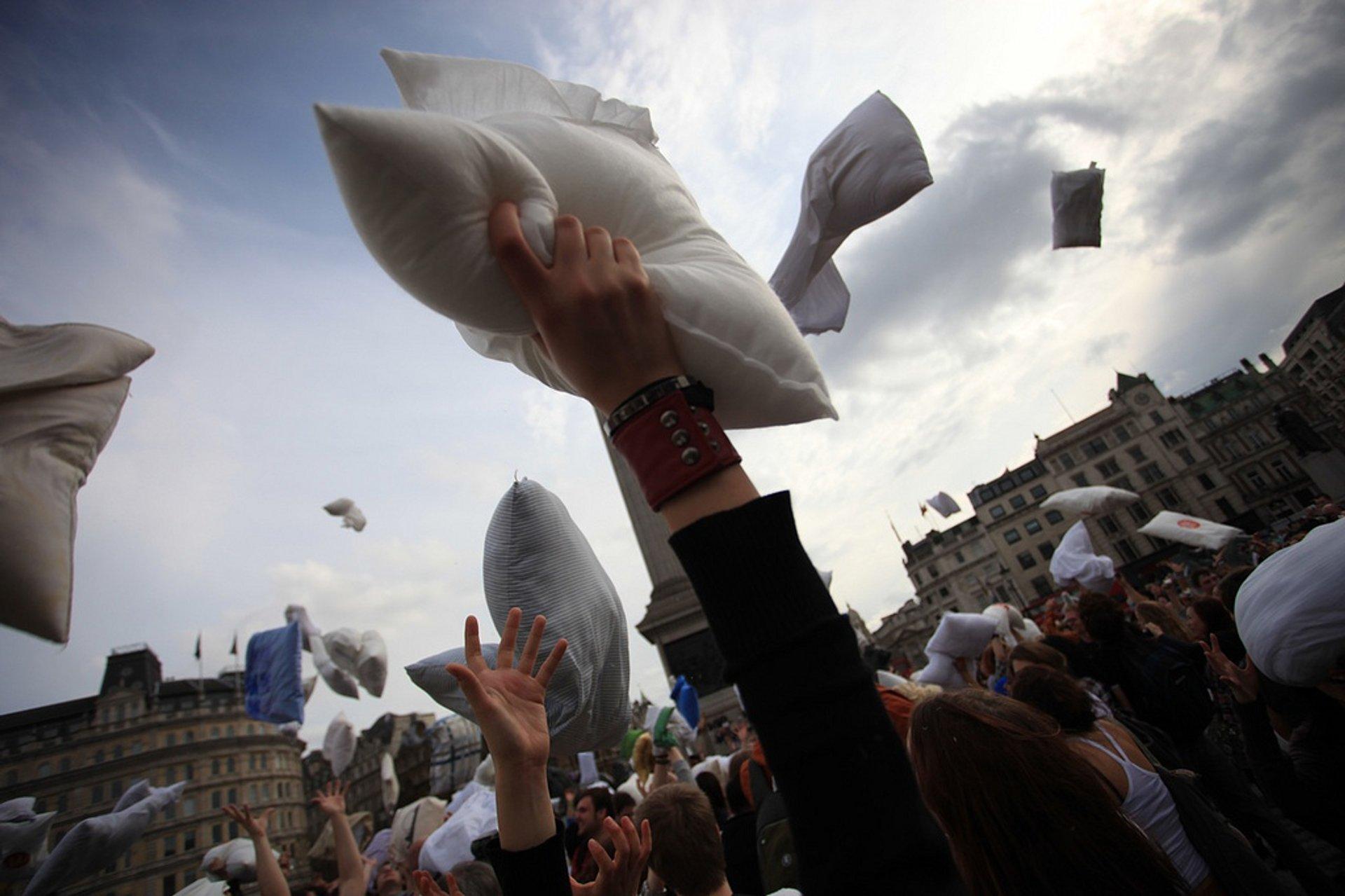 International Pillow Fight Day in London - Best Season 2020