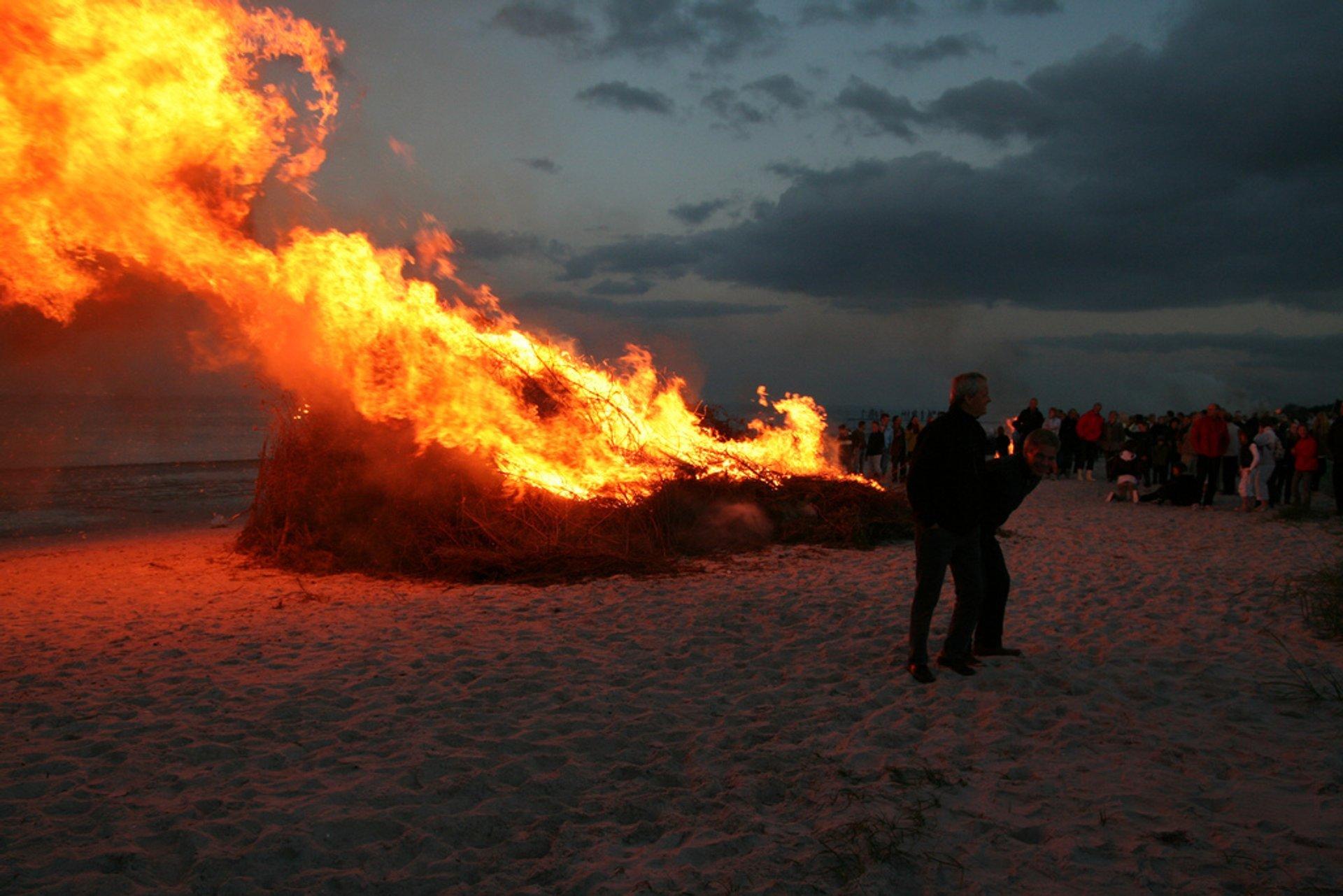 Best time for Sankt Hans Aften (Midsummer) in Denmark 2019