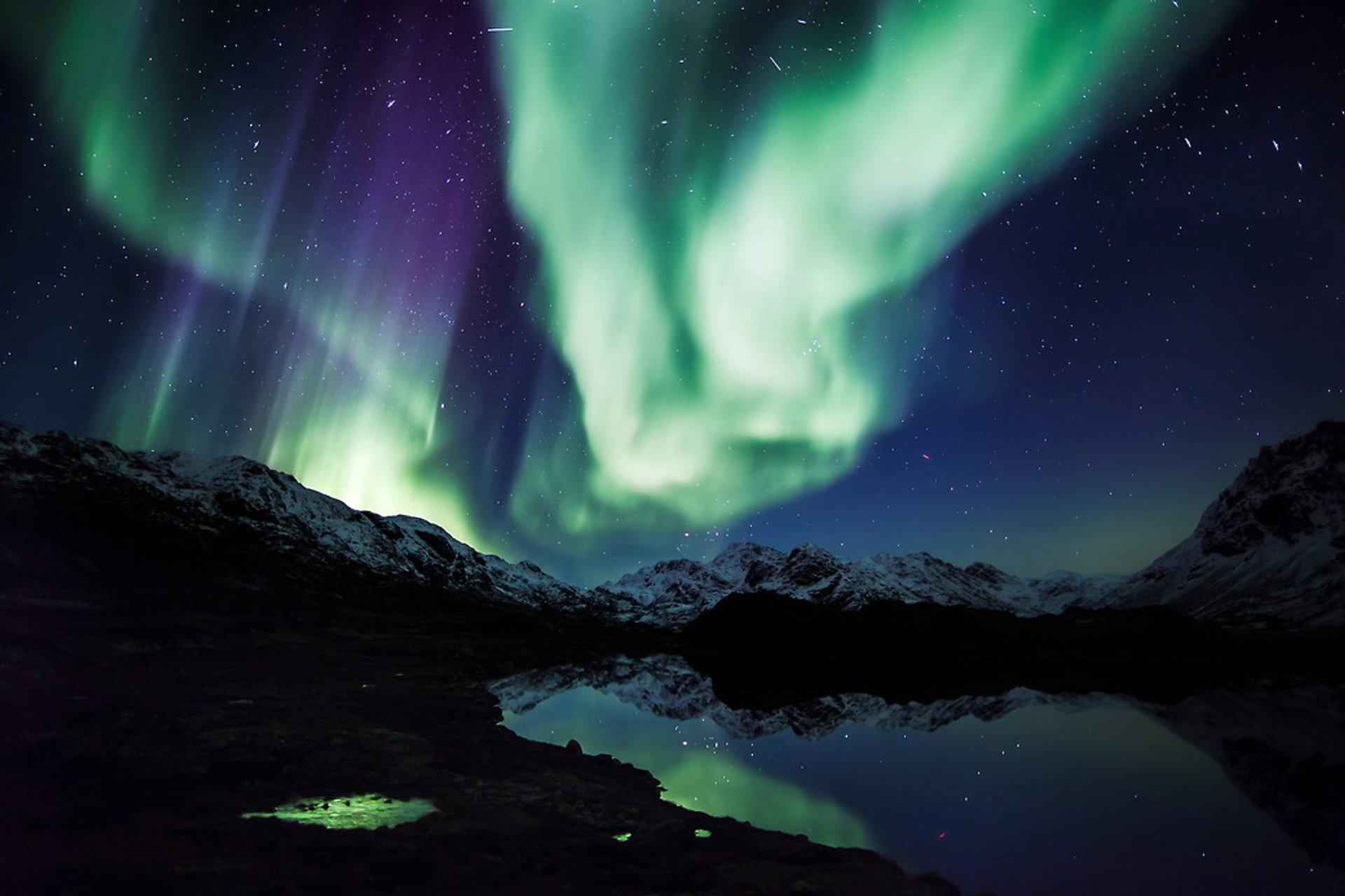 Best time for Northern Lights in Greenland