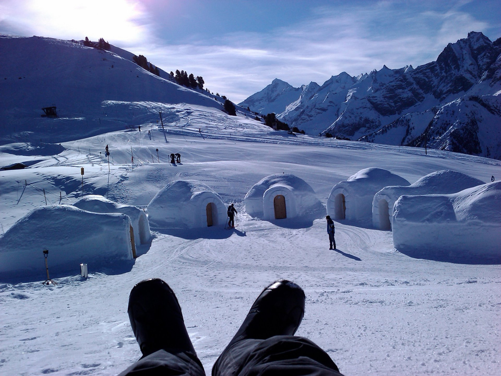 Best time for Igloo Building in Austria 2020