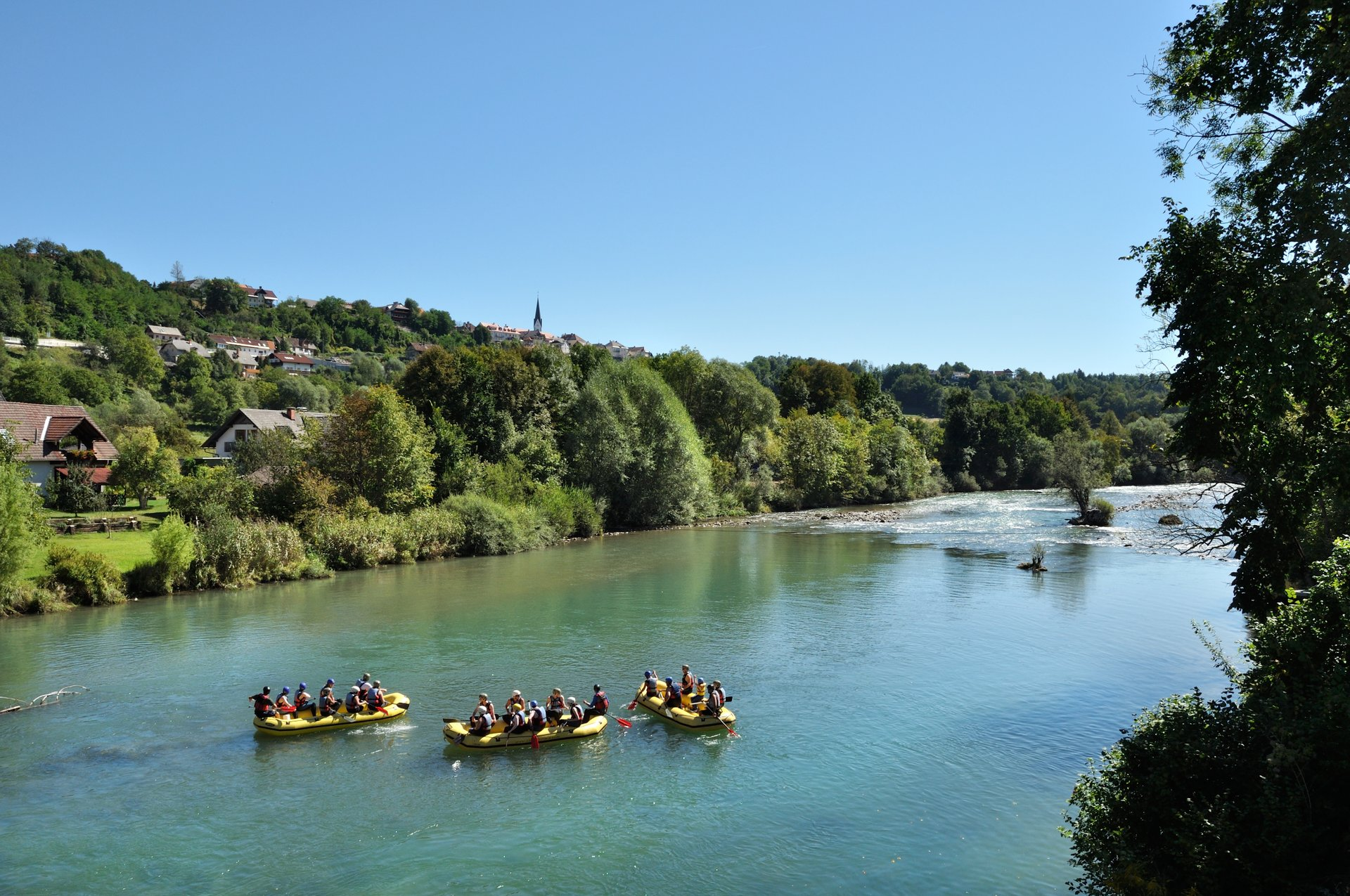 Rafting on Sava river