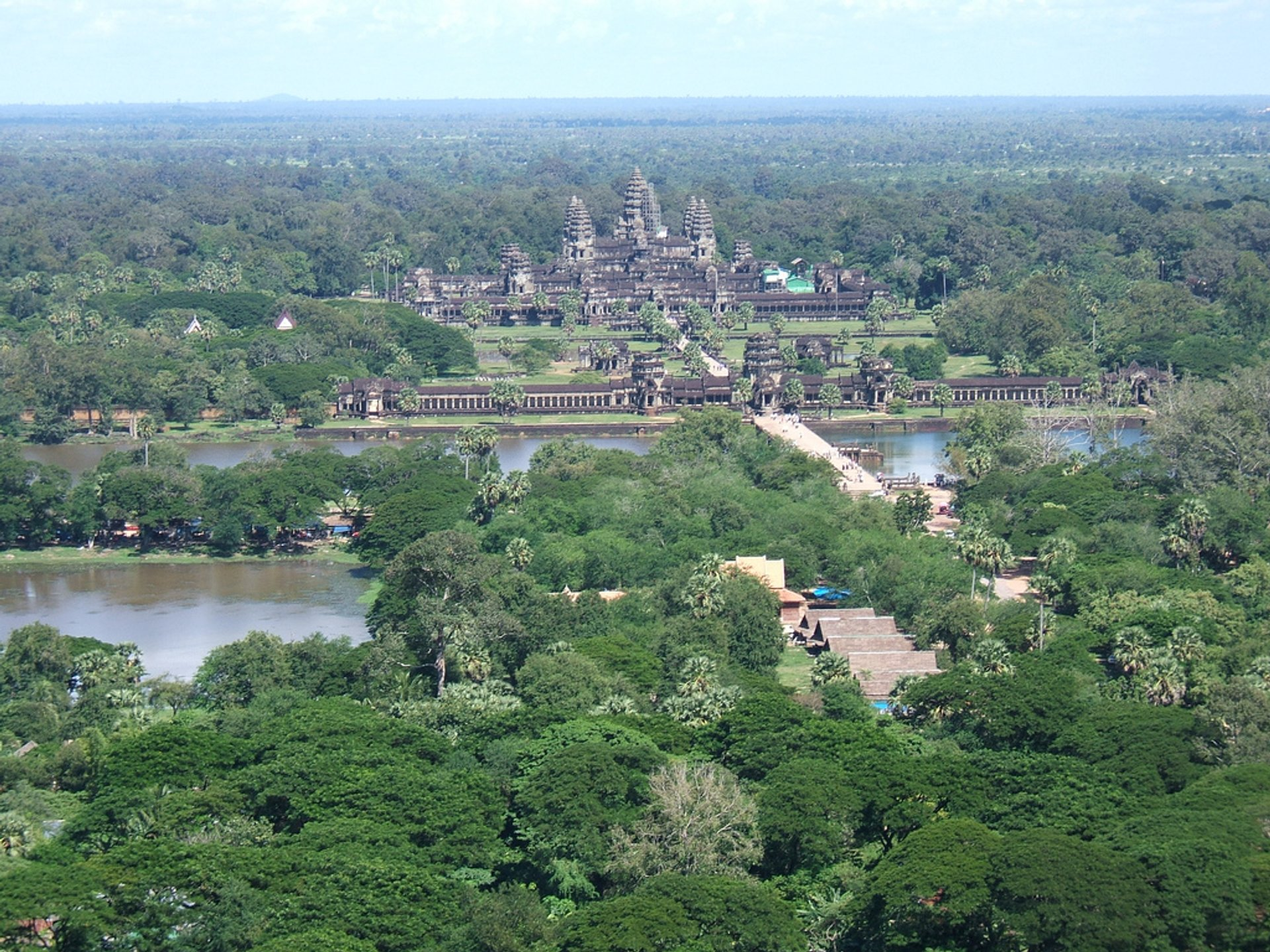 A Helicopter Flight above Angkor Wat in Cambodia - Best Season 2019