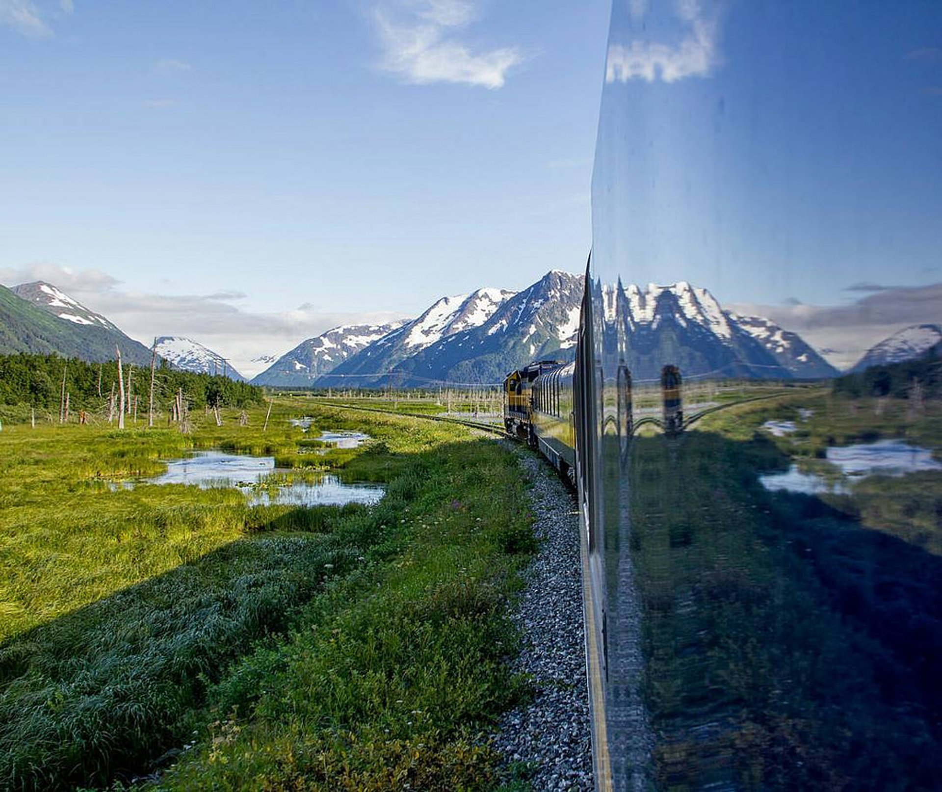 Alaska railway just outside Anchorage 2020