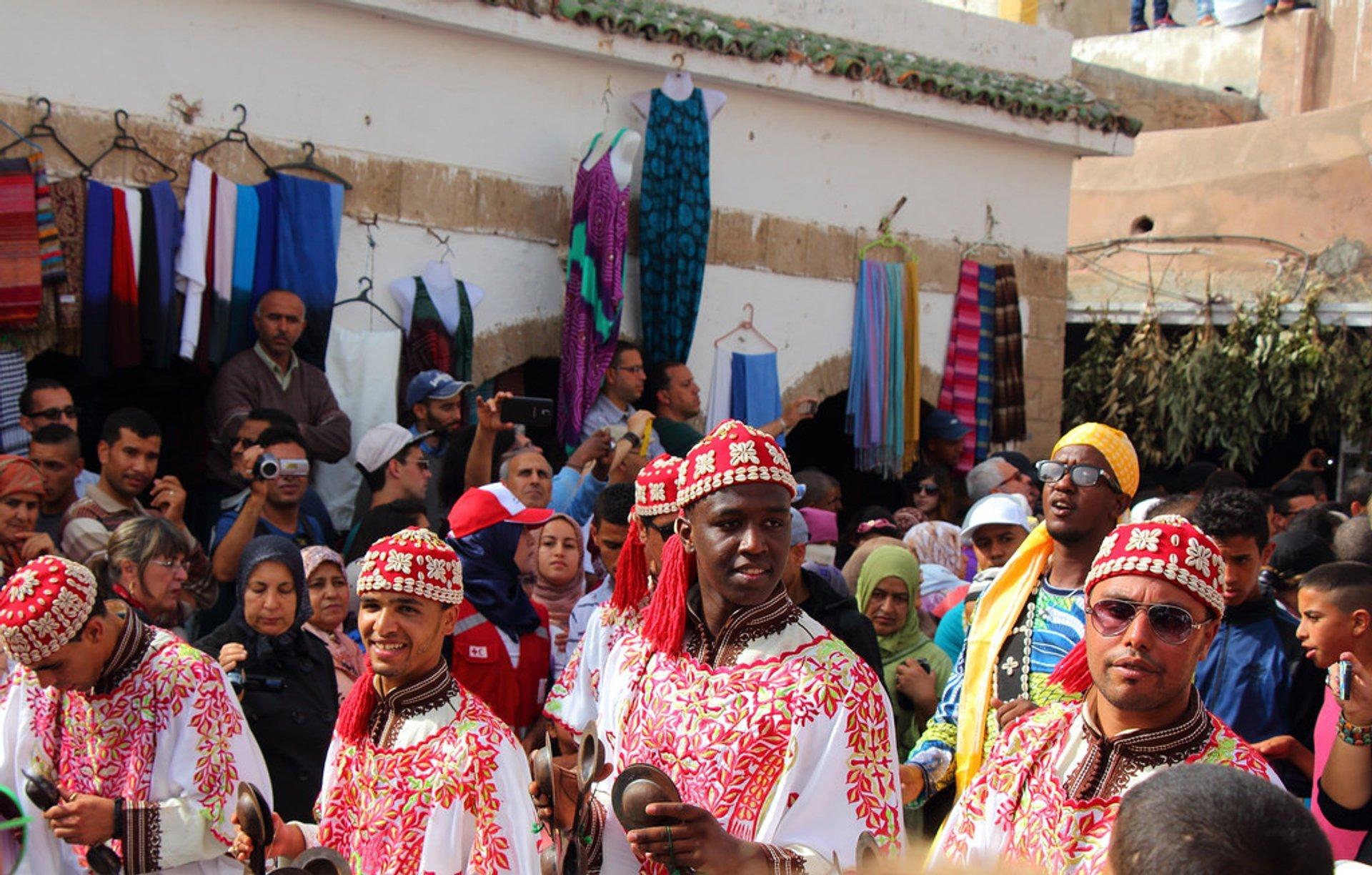 Parade d'ouverture. Festival Gnaoua à Essaouira 2020