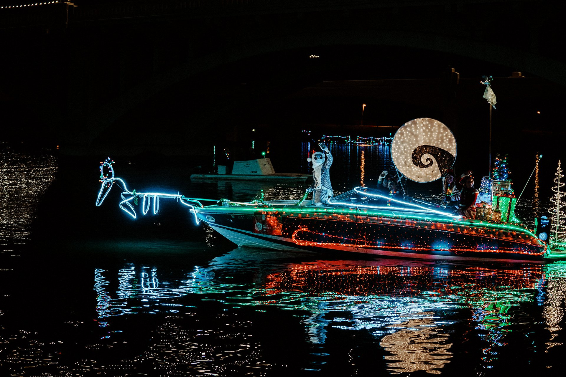 Boat illuminations at Tempe Town Lake 2020