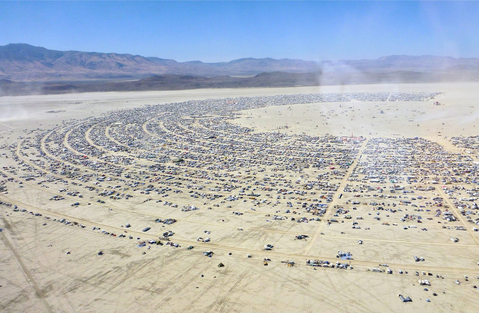 Black Rock City, view from an airlane 2020