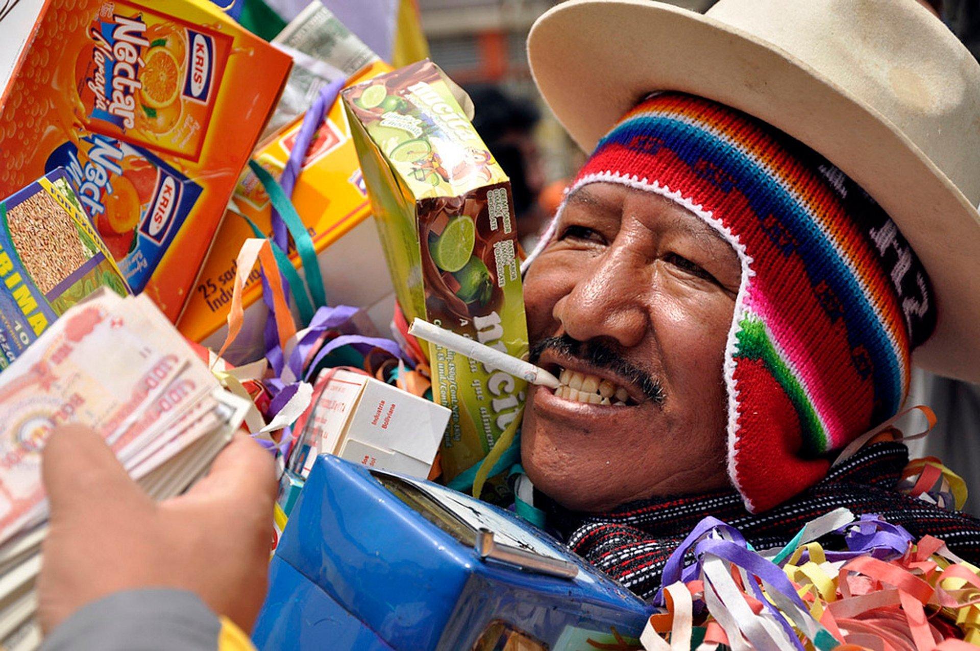 Best time for Feria de las Alasitas in Bolivia 2019