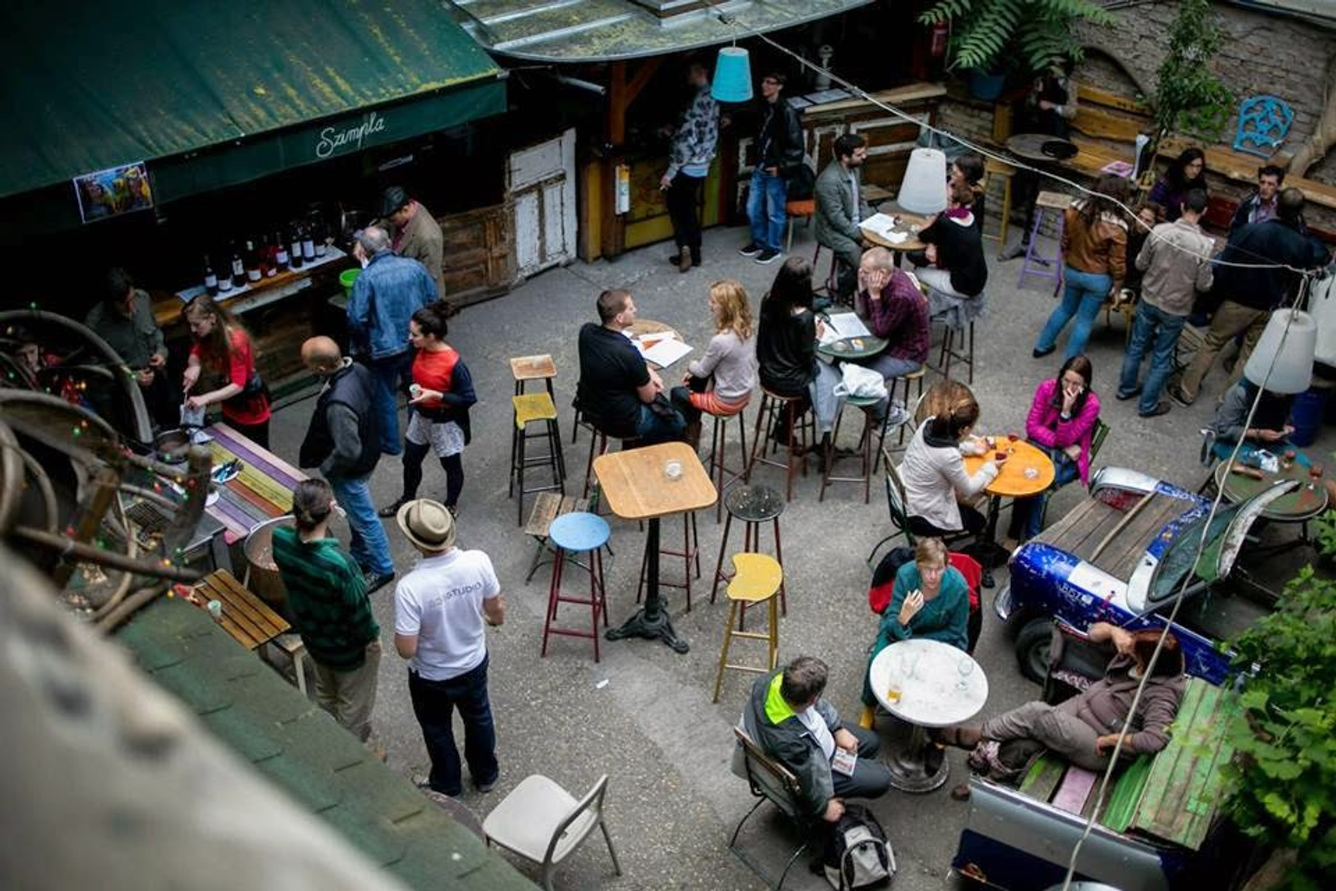 Szimpla kert courtyard from above 2020