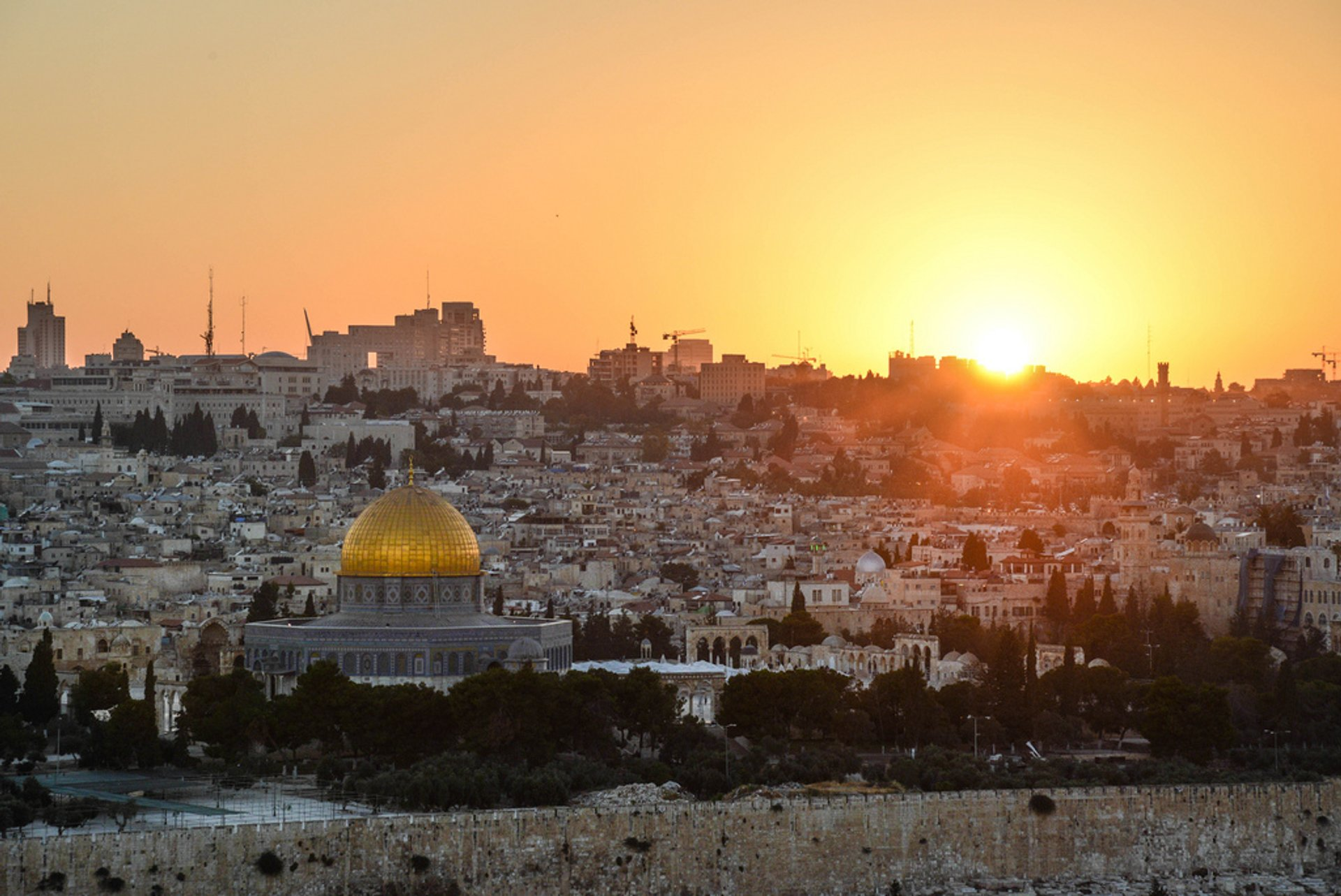 View of the city from the Mount of Olives 2020