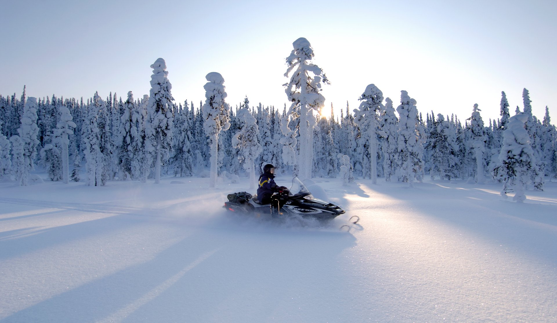 Snowmobiling in Iso-Syöte 2019