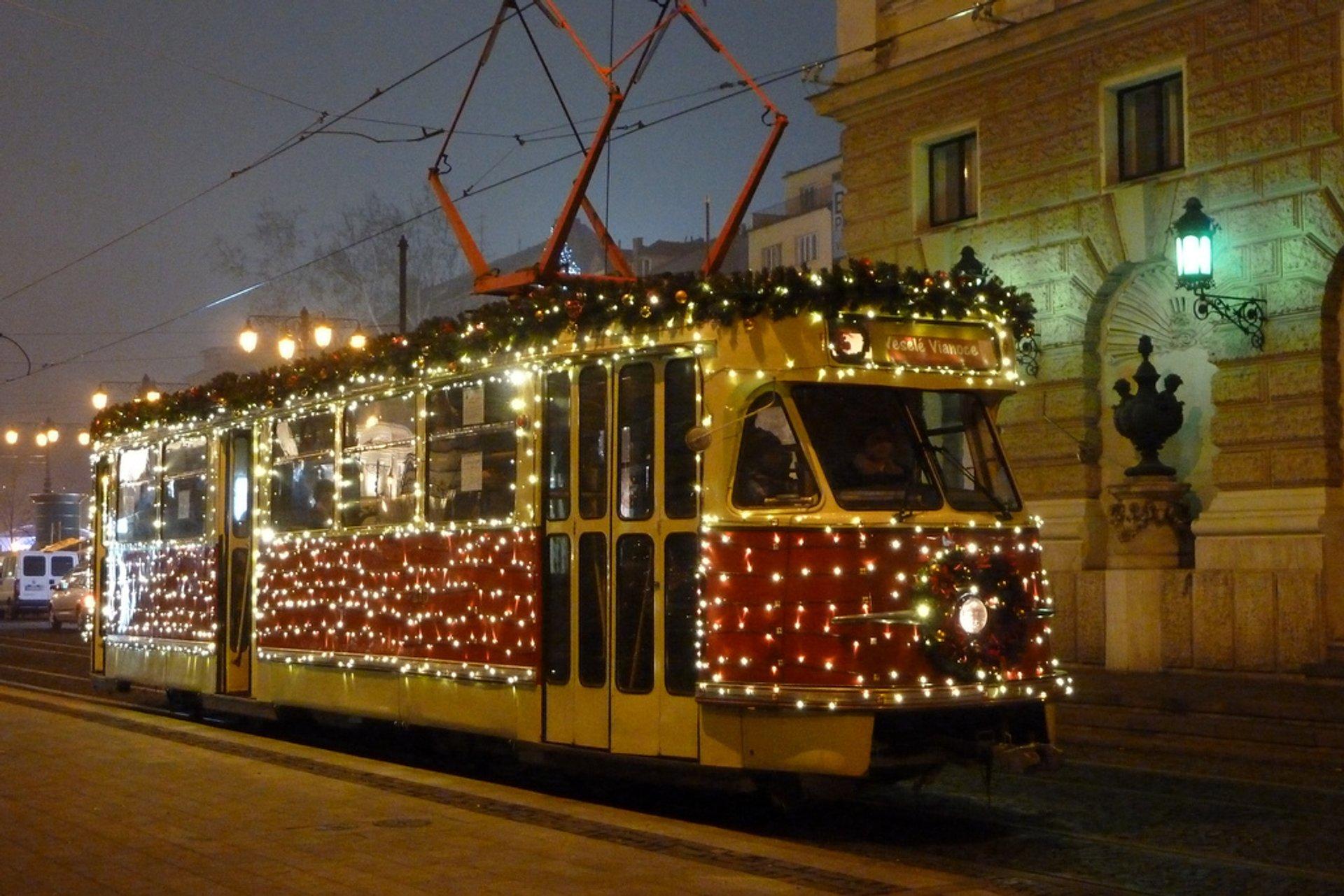 Christmas Tram in Bratislava in Slovakia 2019 - Best Time