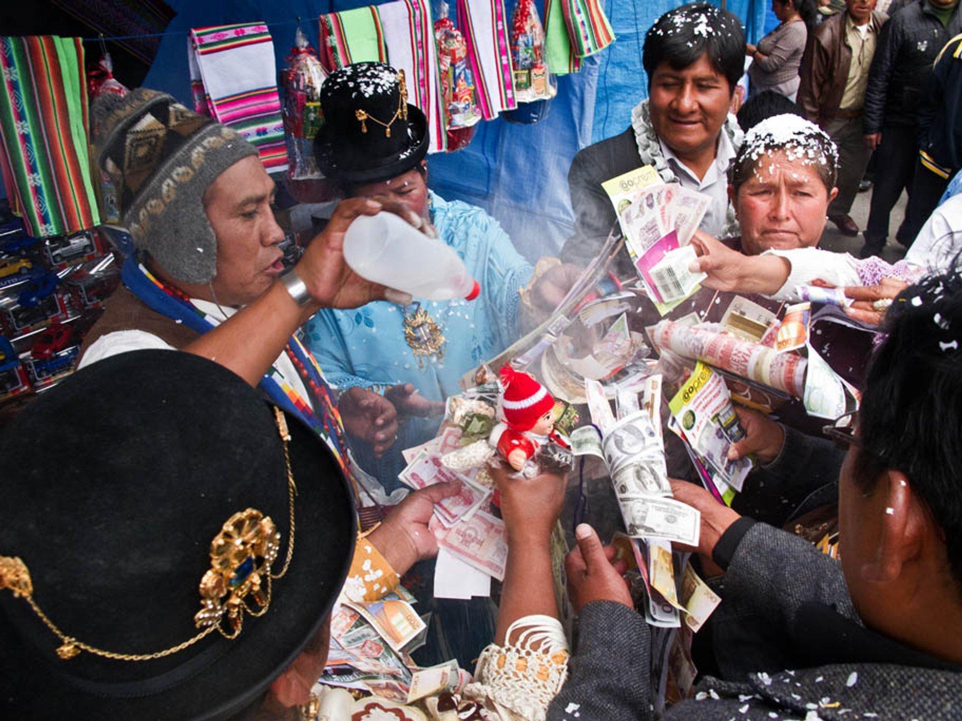 Best time to see Feria de las Alasitas in Bolivia 2019