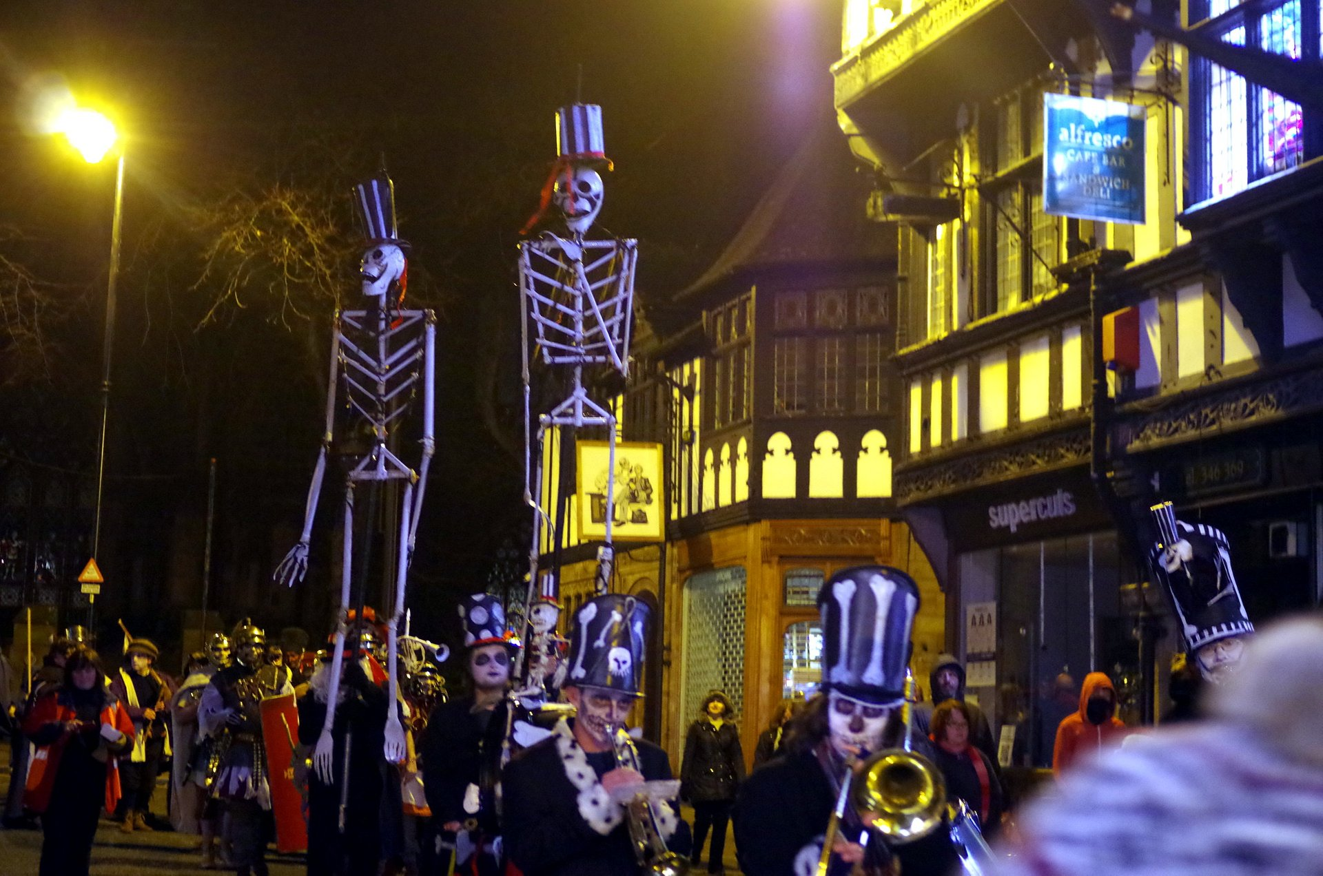 Best time to see Chester Winter Watch Parade in England 2020