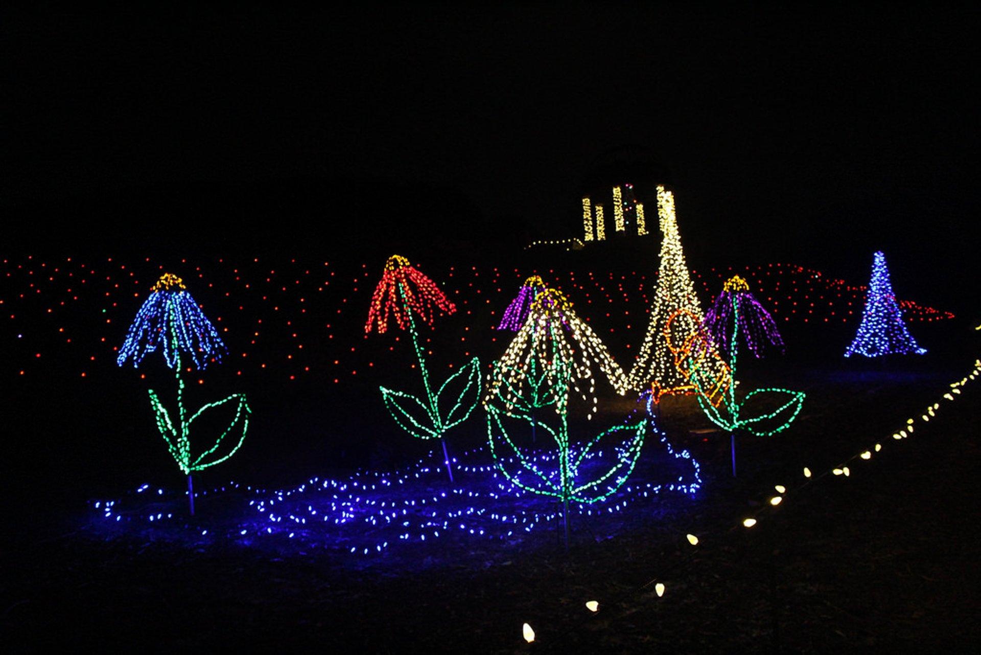 Garden of Lights at Green Bay Botanical Garden in Midwest - Best Season 2020