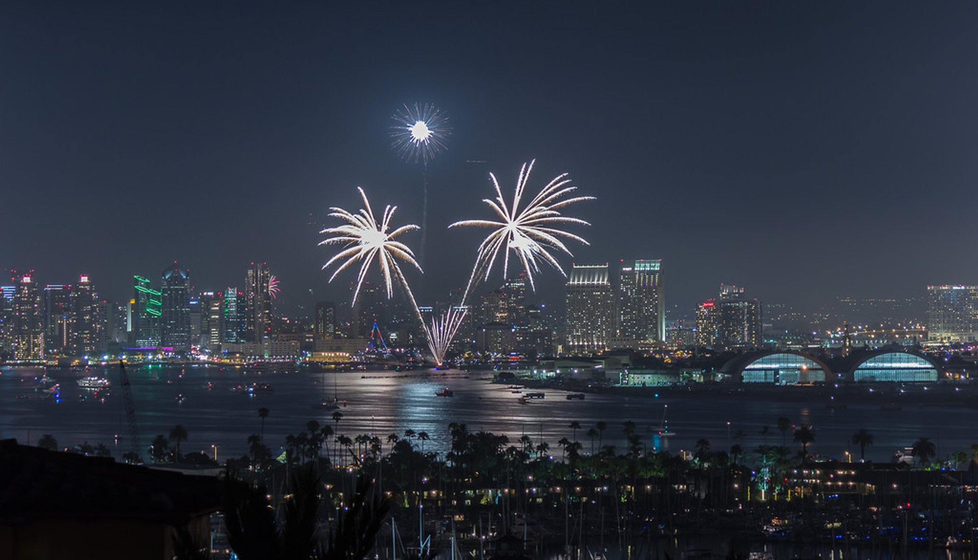 First blasts over the USS Midway 2019