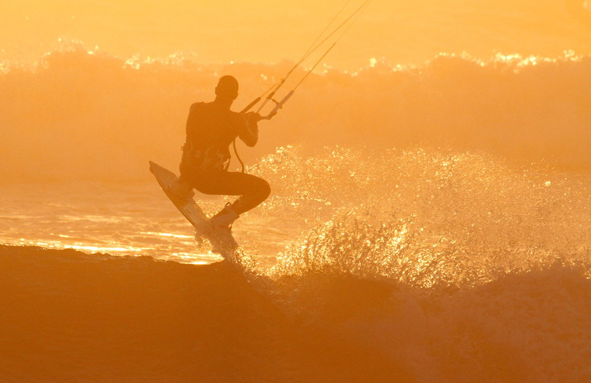 Kitesurfer at Blouberg Beach, Cape Town 2020