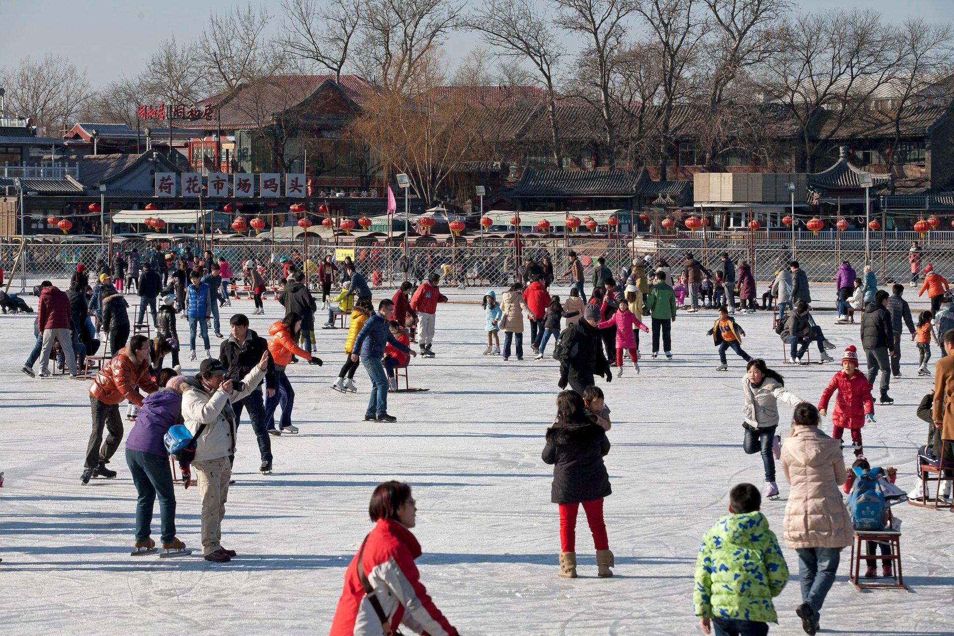 Winter time at BeiHai Park in Beijing 2020