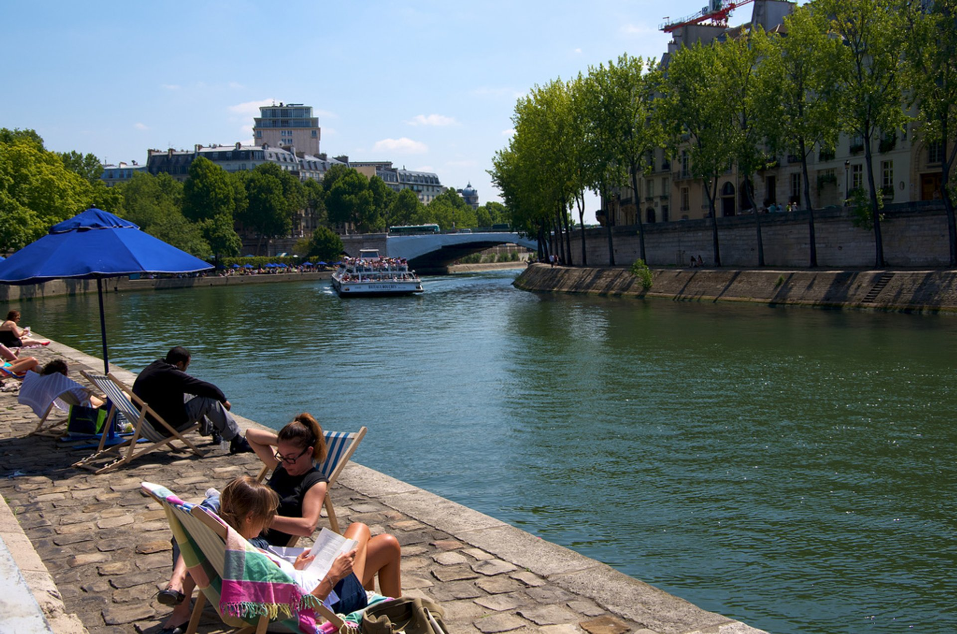 Best time for Beaches on the Seine or Paris Plages in Paris 2020