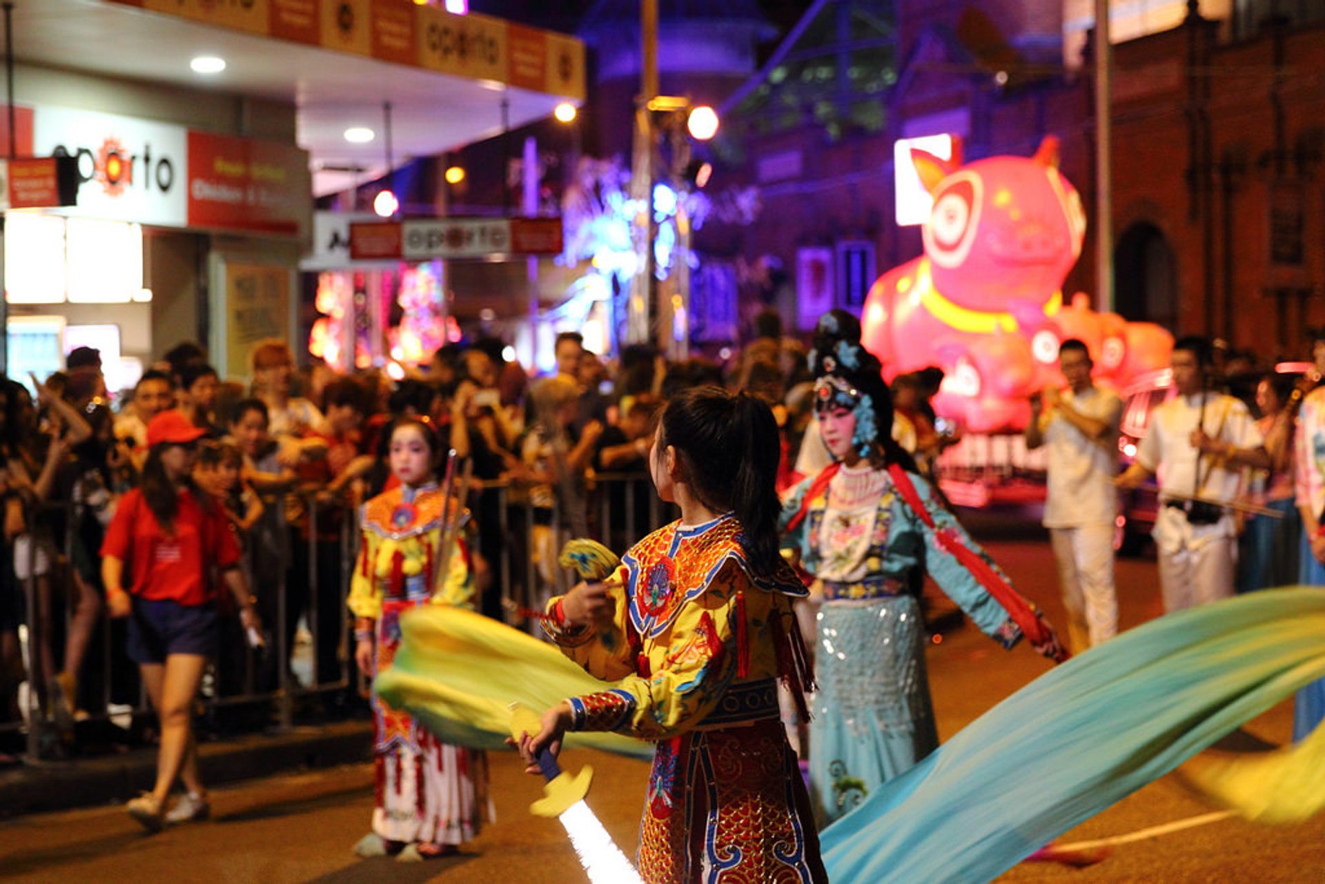 Twilight Parade though Sydney's Chinatown 2020