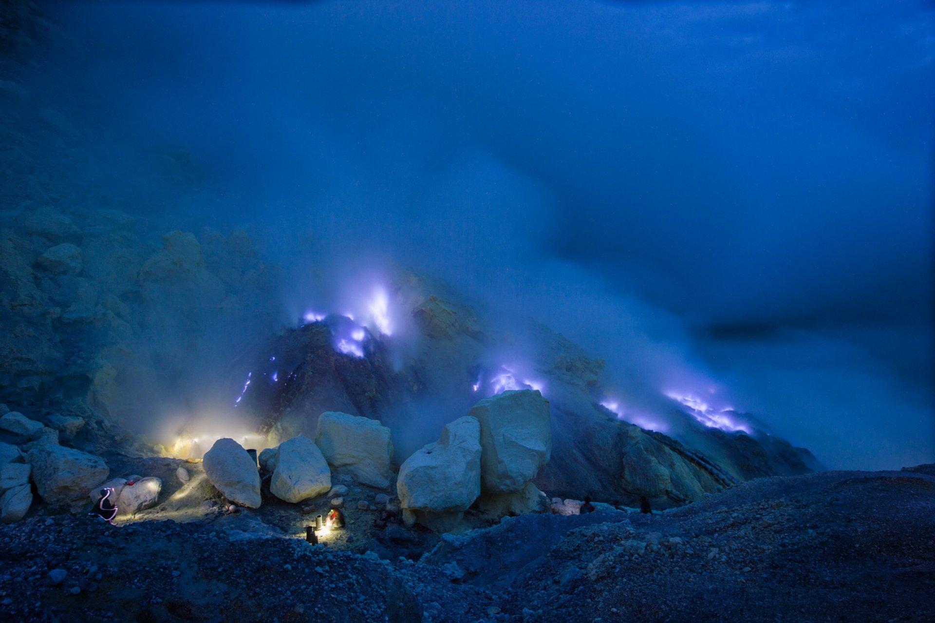 Ijen blue flame