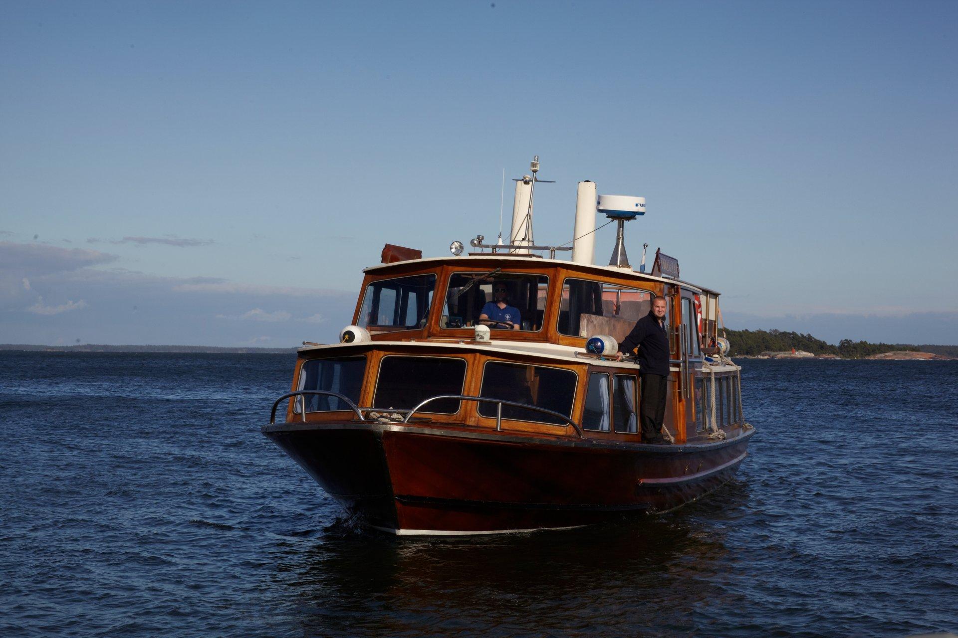 Boat trip to Kaunissaari Island near Helsinki city 2020