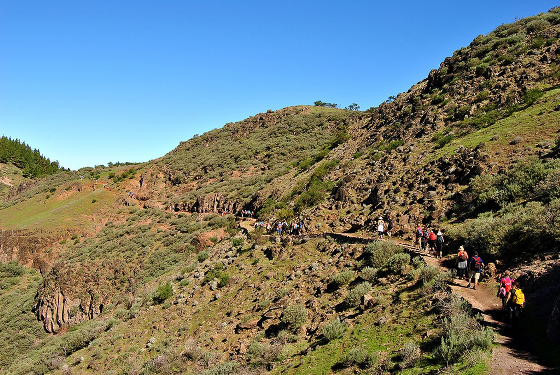 On the way to Roque Nublo, Las Palmas, Spain 2020