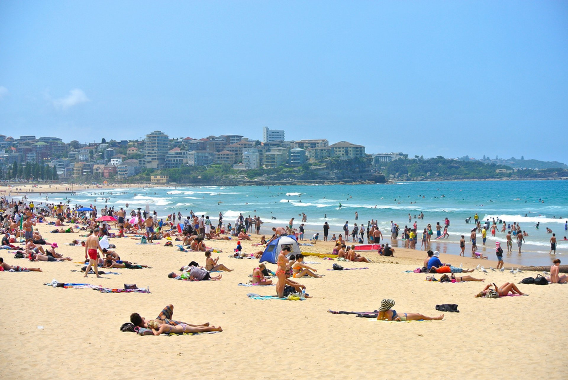 Manly Beach gets rather crowded in the summer months 2019