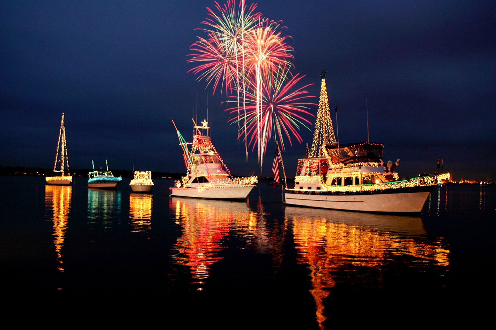 Lighted Boat Parade, Light Up the Lake, Lake Charles 2020