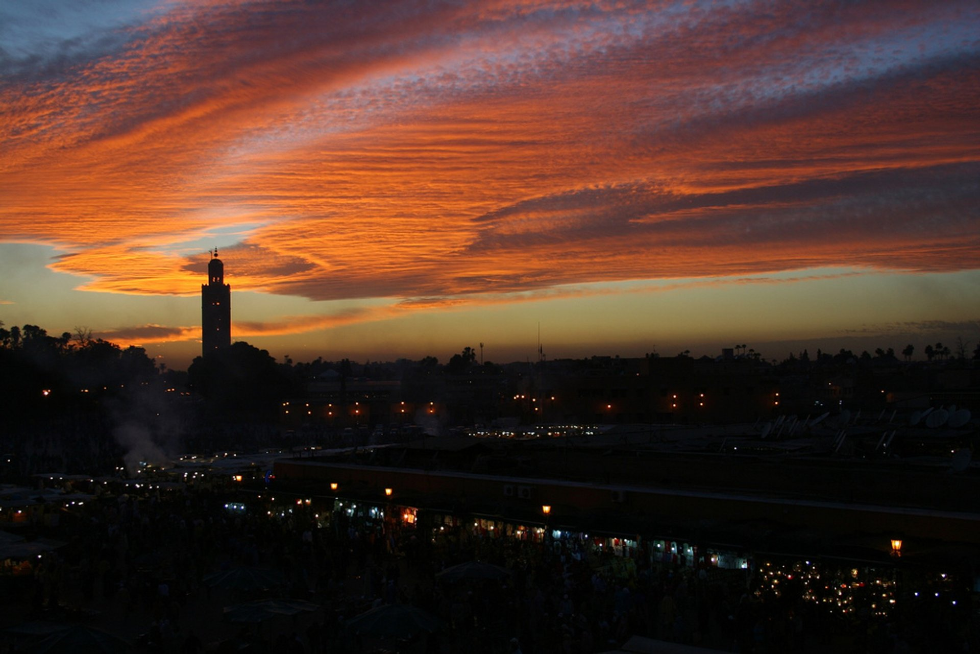 Sunset in Marrakesh 2020