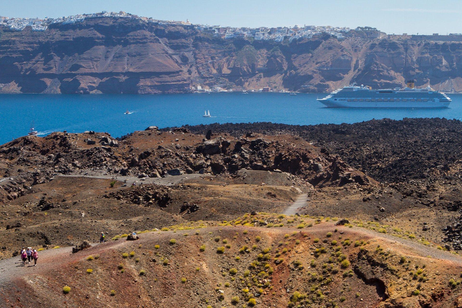 Nea Kameni in Santorini 2019 - Best Time