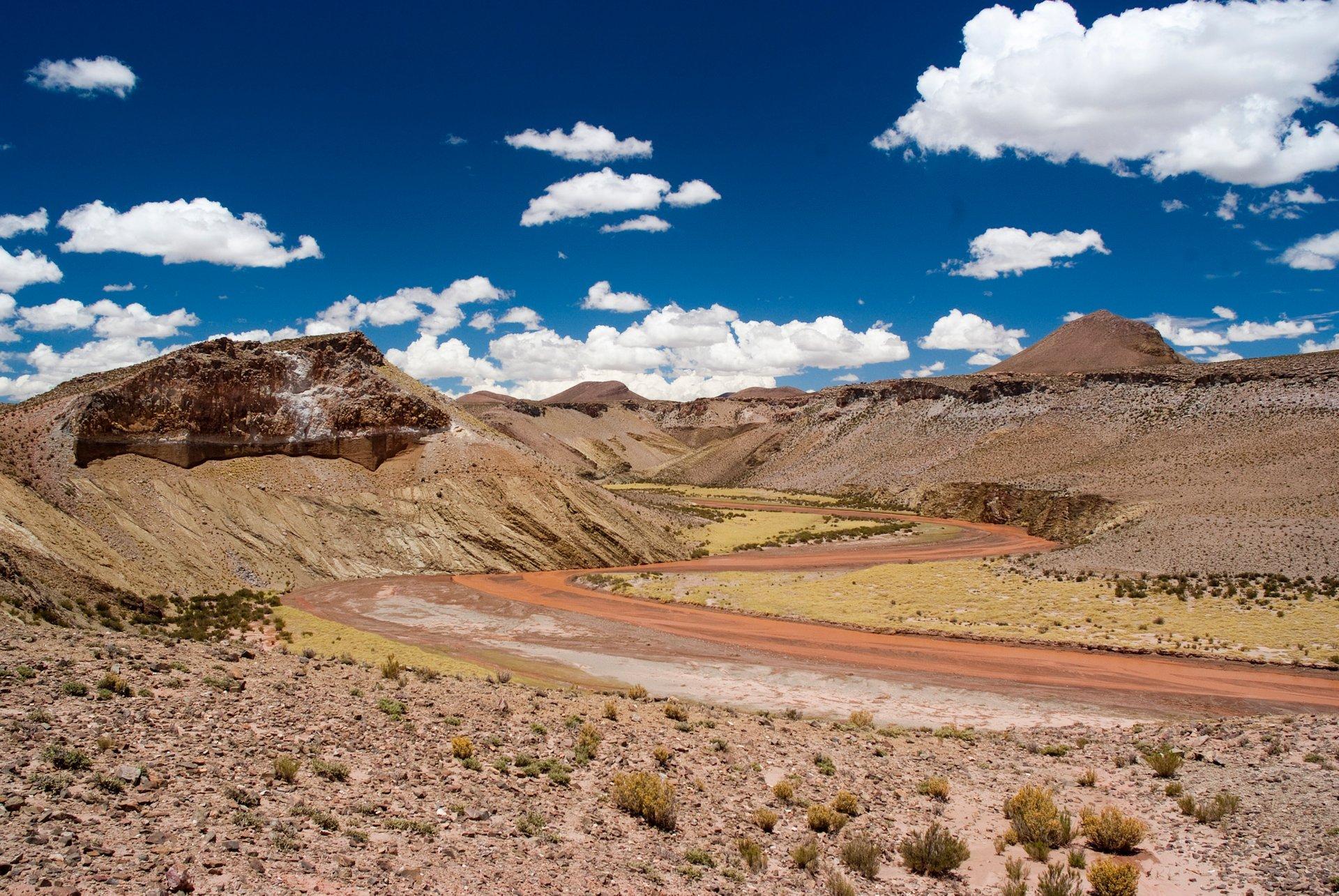 Ruta Provincial 74. Part of Ruta 40 in Jujuy Province, Argentina 2020