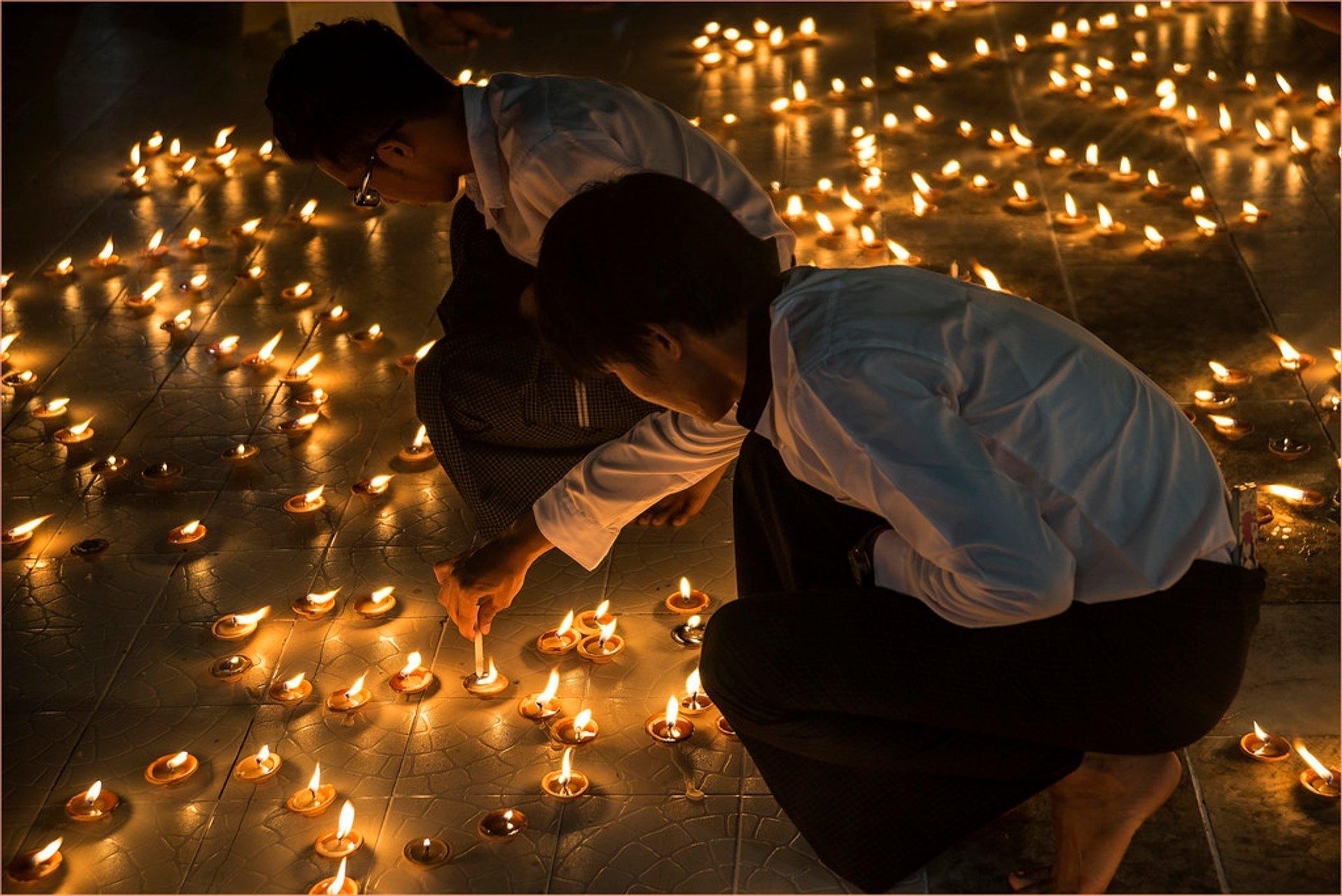 Best time for Thadingyut Festival of Lights in Myanmar 2019
