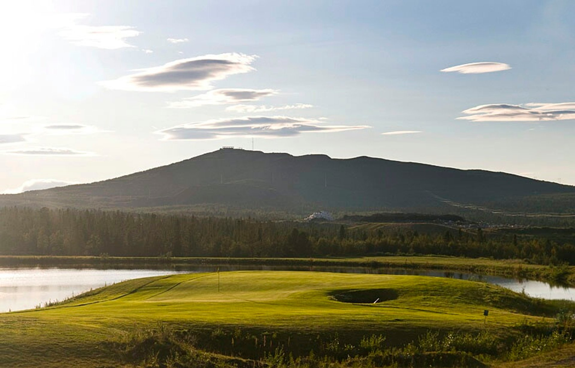 Golf course in Kiruna 2020