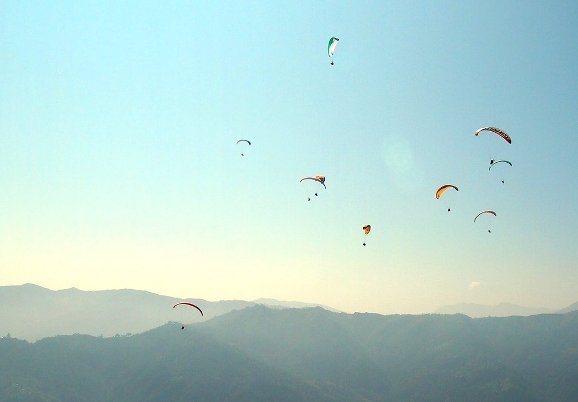 Paragliding over the Pokhara Landscapes in Nepal - Best Season 2019